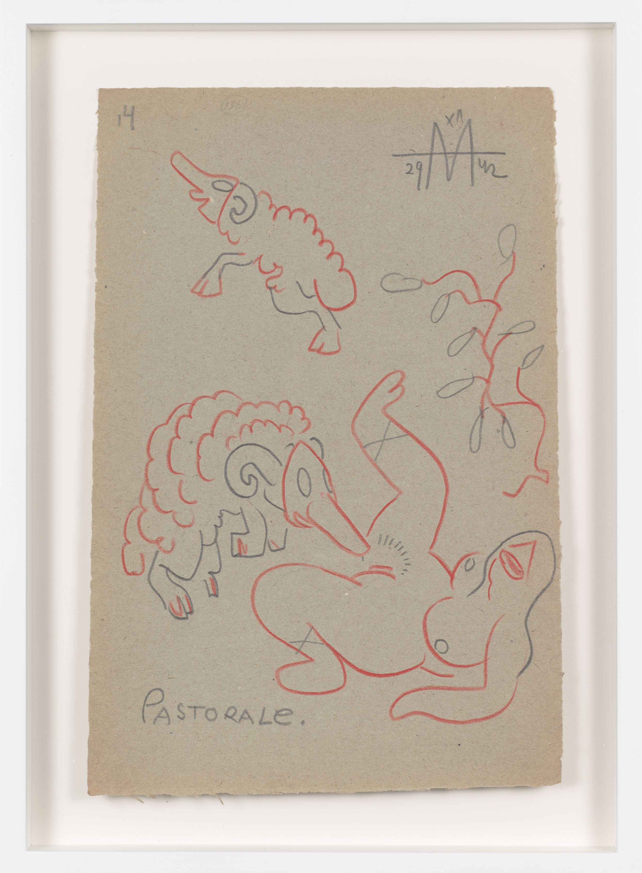 Untitled (1942) Colored pencil on paper