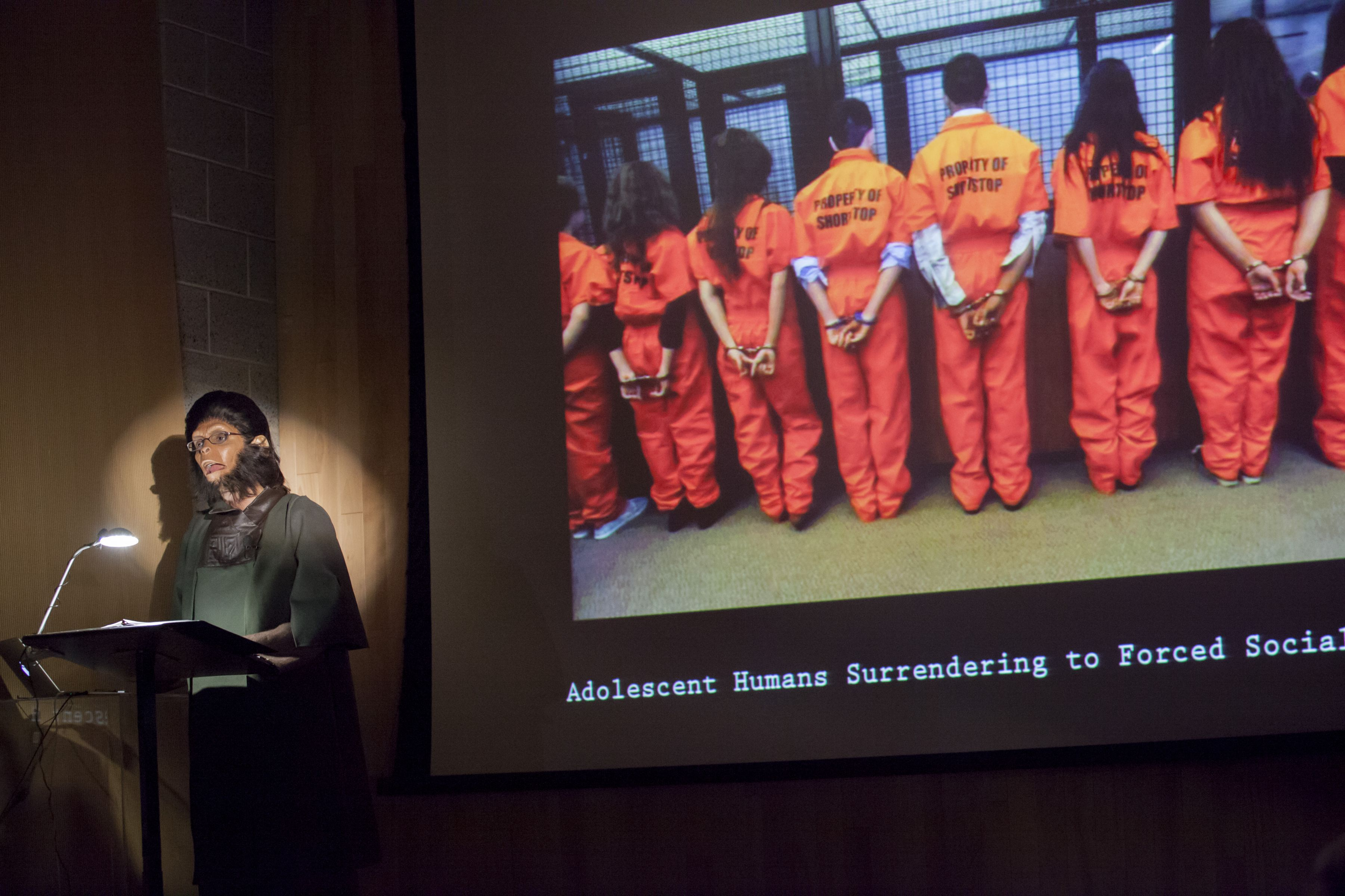 Observations of Predation in Humans: A Lecture by Dr. Zira, Animal Psychologist, performance, Studio Museum in Harlem, New York, NY, 2013,
