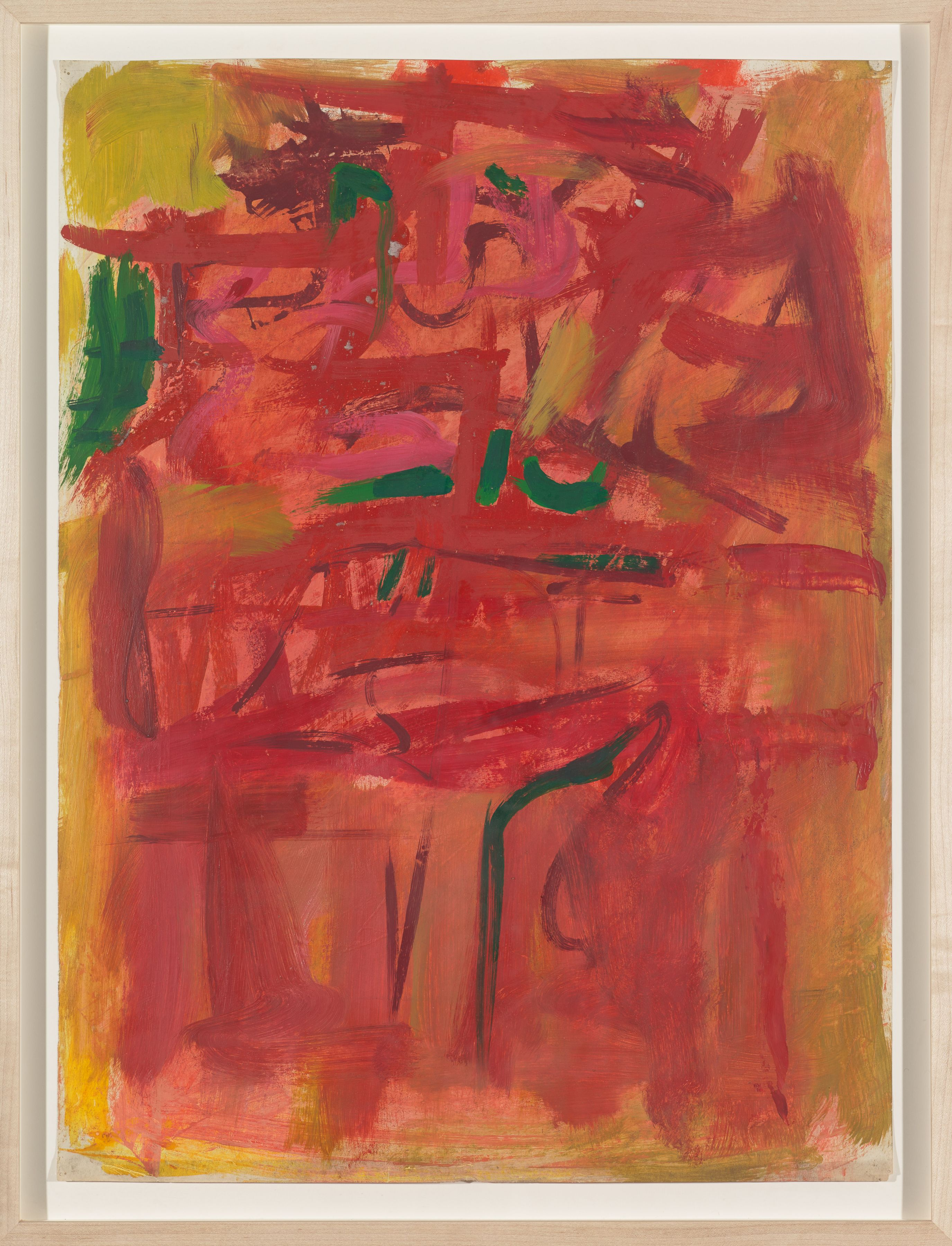 Untitled (House of the Sun), c. 1952, Oil and pencil on paper