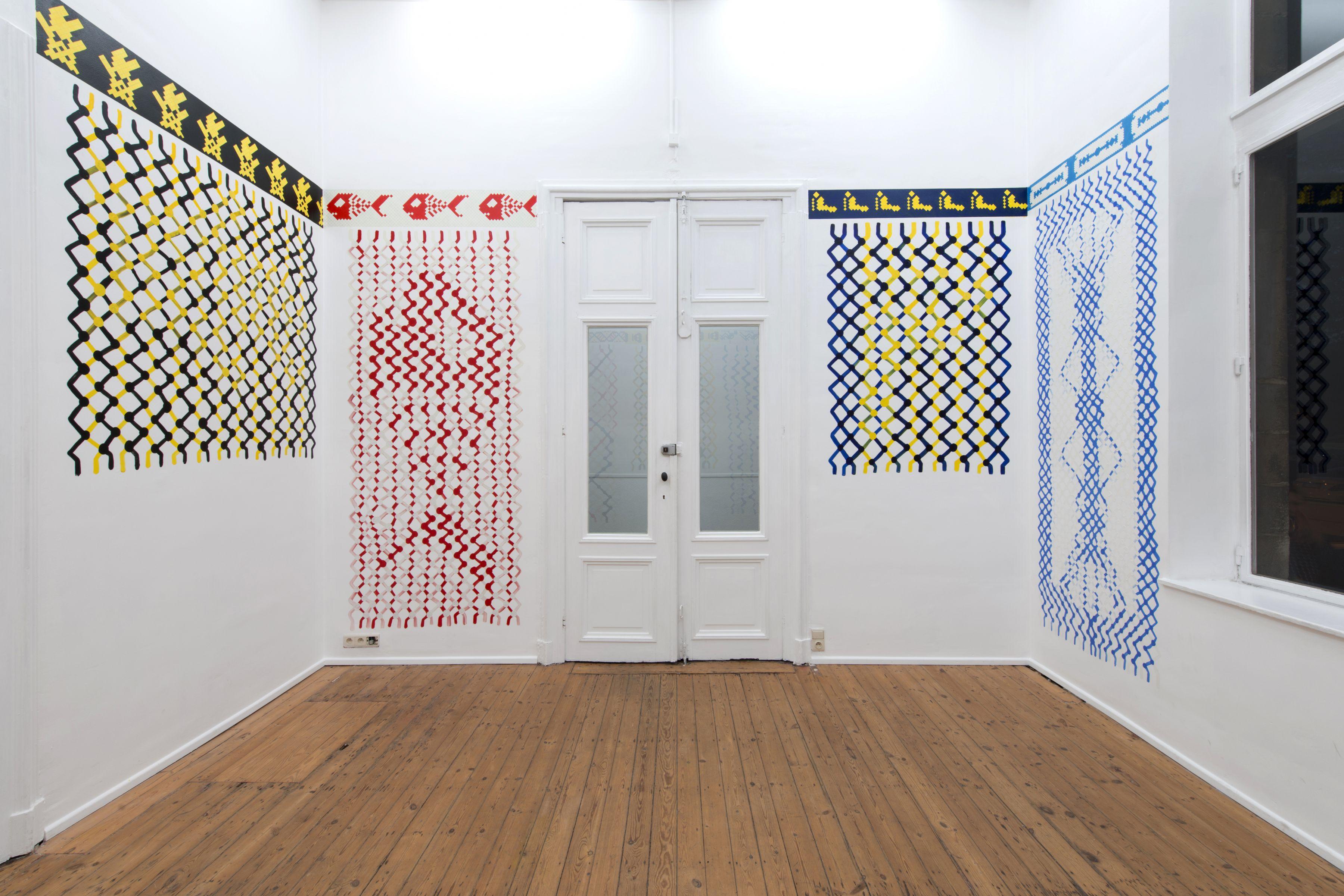 Ken Verhoeven, Friendship Paintings, trampoline, Antwerp, 2018.