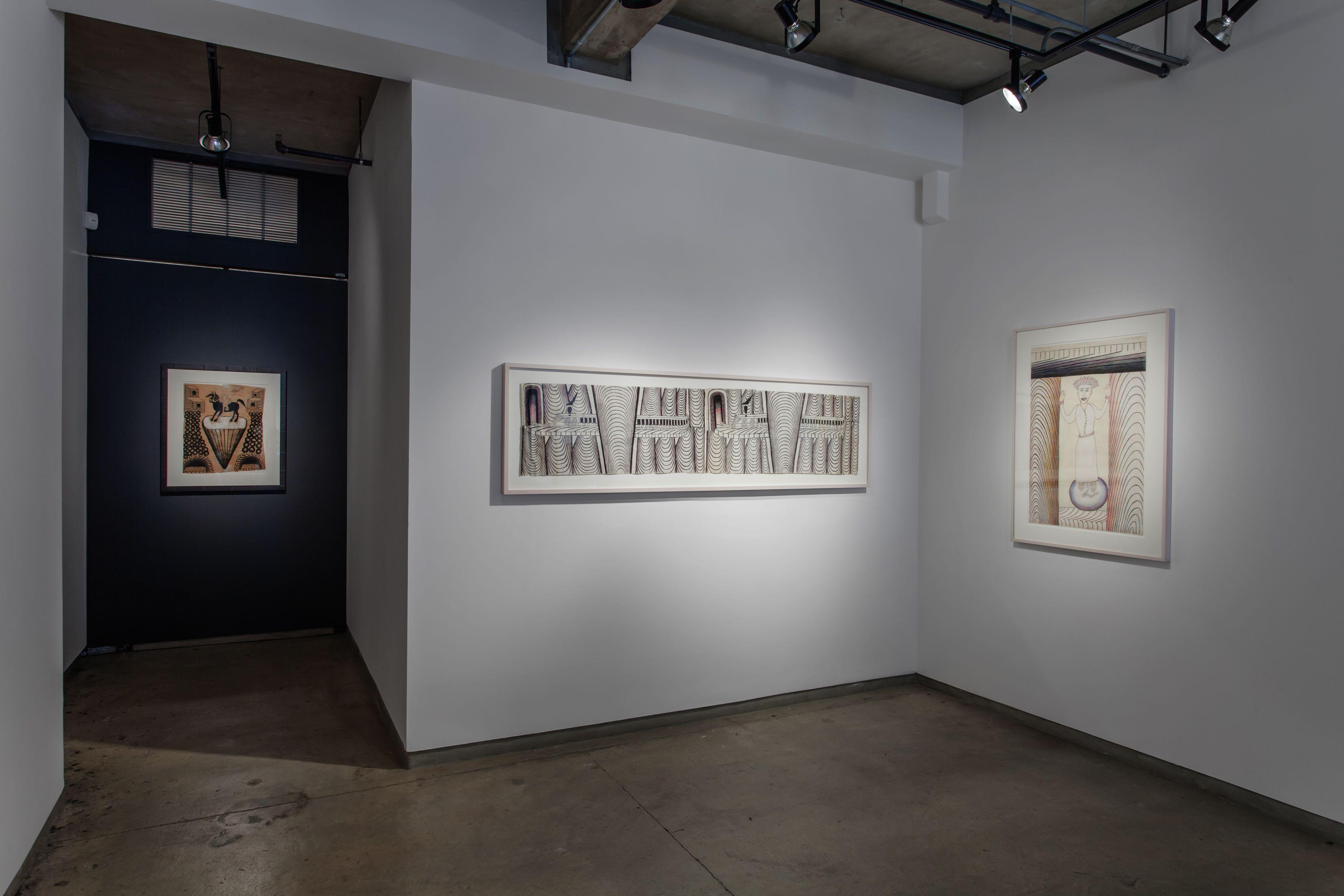 Installation views, Martín Ramírez at Ricco/Maresca GalleryCourtesy of Ricco/Maresca Gallery