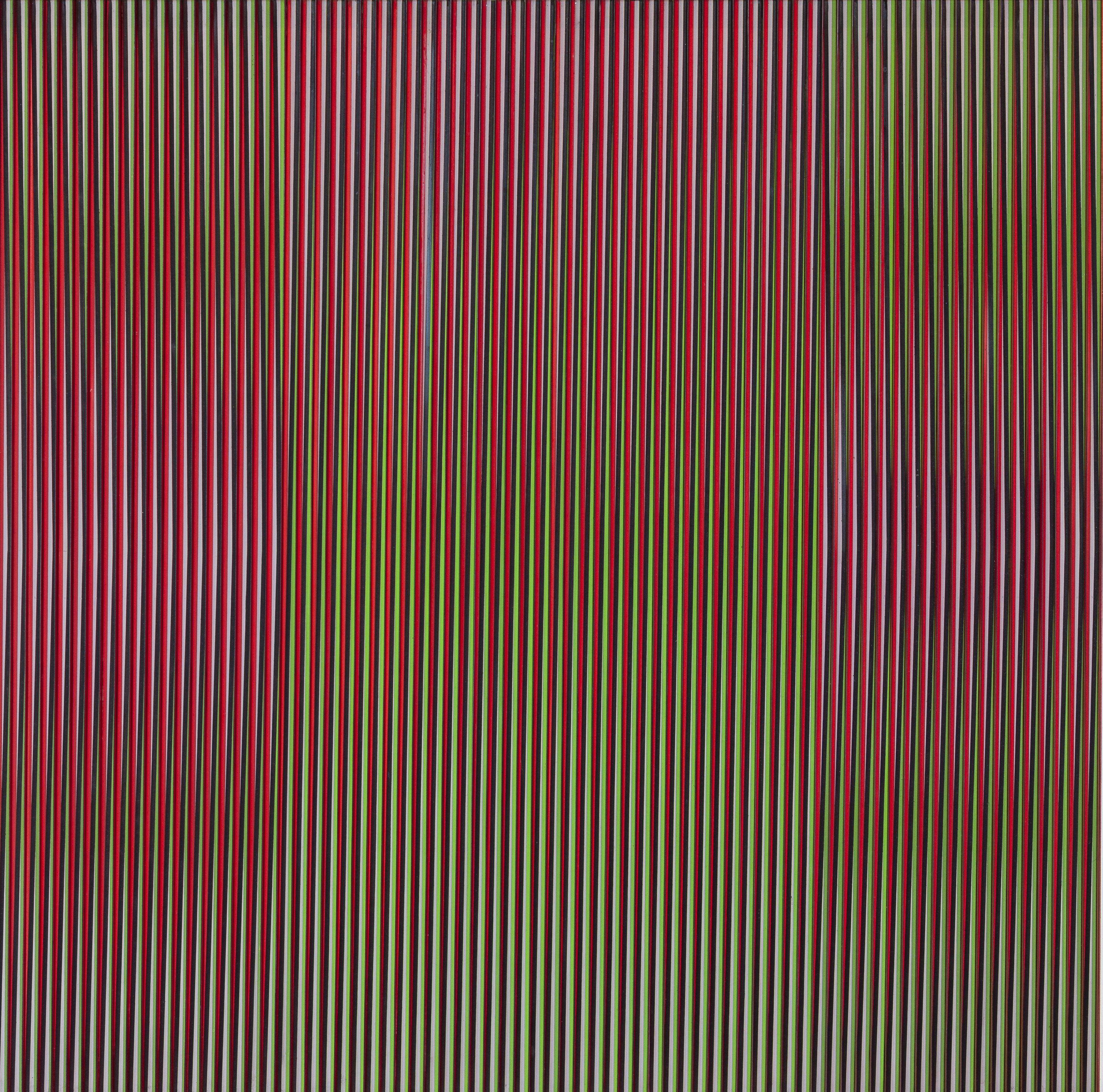Carlos Cruz-Diez, Physichromie 887, 1976. Aluminum and Plexiglass, 31 1/2 x 31 1/2 in.