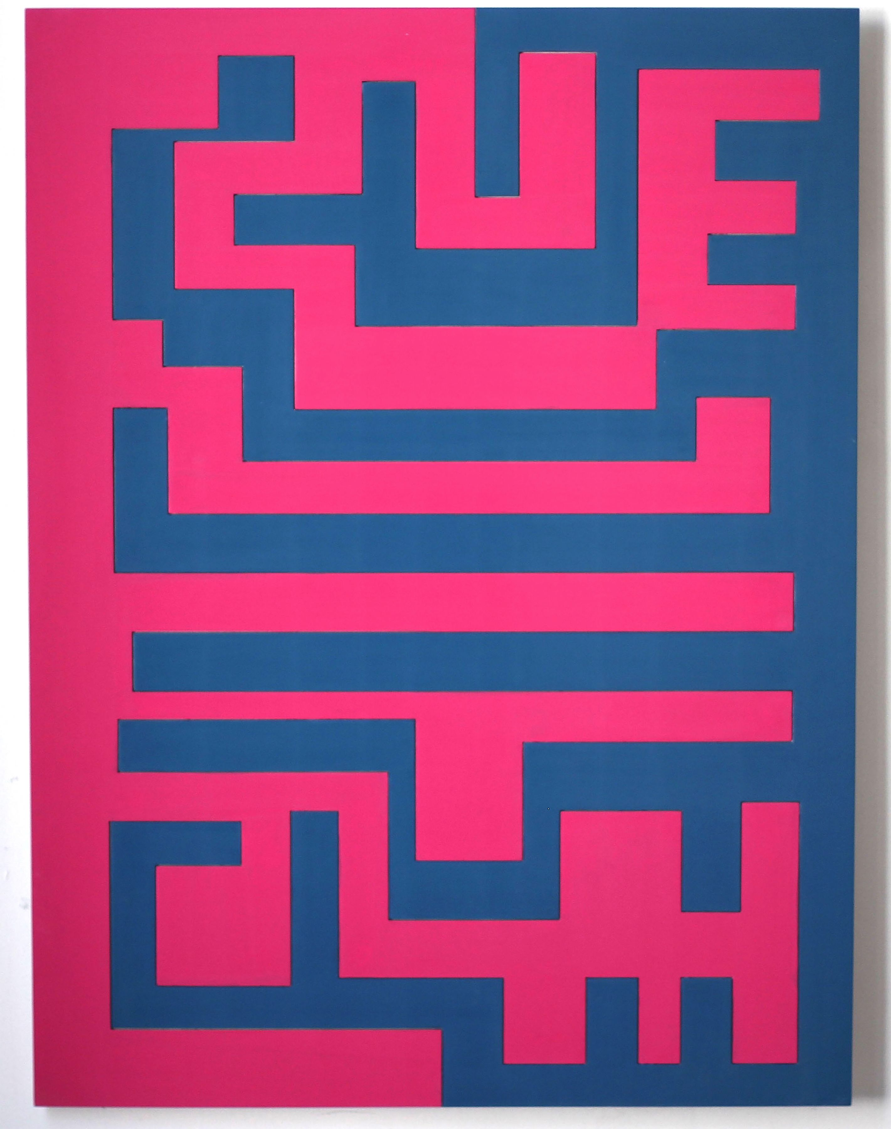 Labrys, 2018. Lacquer on MDF, 47 7/32 x 35 13/32 in. (120 x 90 cm.)