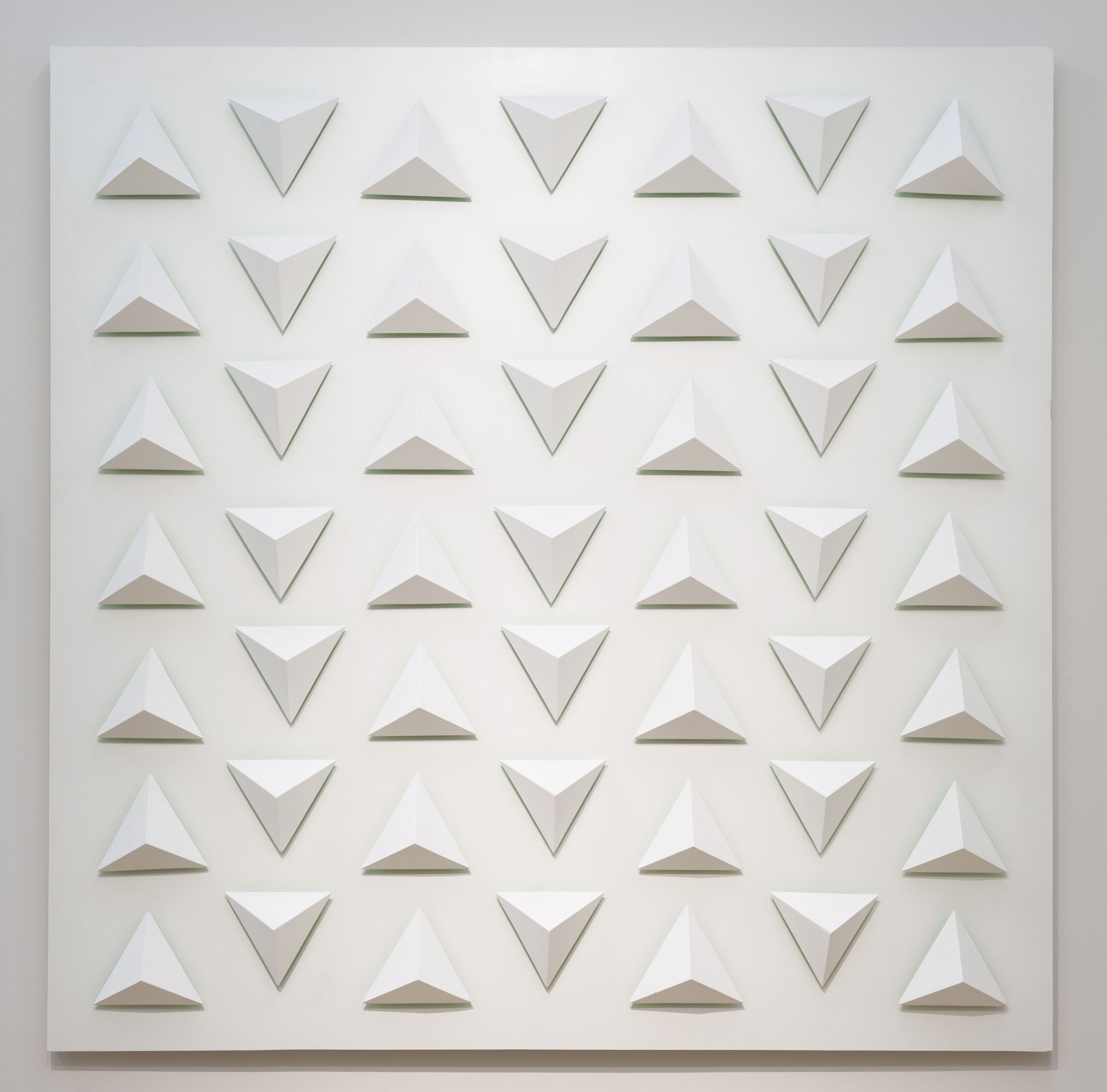 Luis Tomasello, Atmosphère chromoplastique N° 1029, 2013. Painting, acrylic and wood, 53 1/4 x 53 1/4 in.
