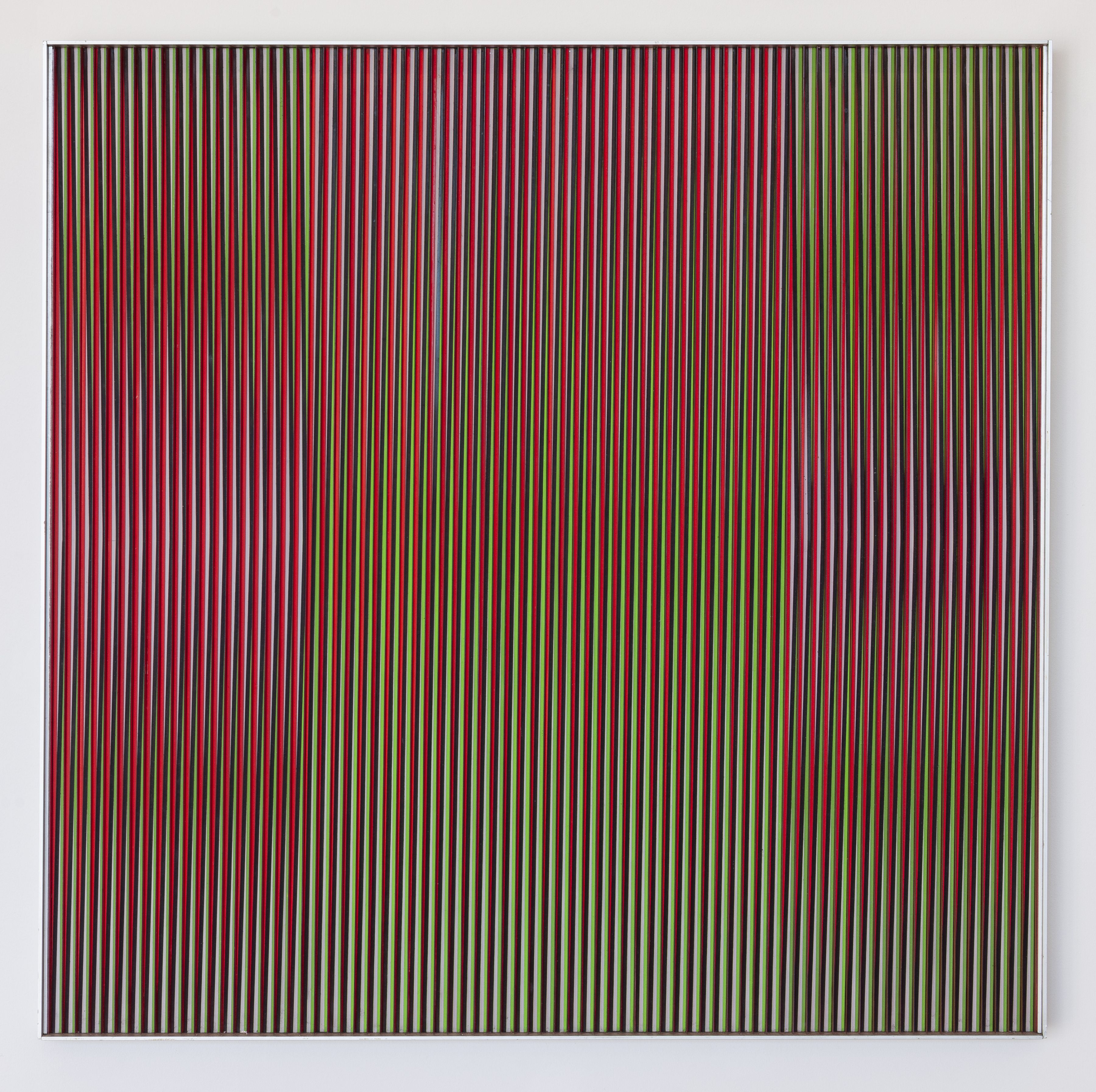 Carlos Cruz-Diez,Physichromie 887, 1976,Aluminum and Plexiglass,31 1/2 x 31 1/2 in. (80 x 80 cm.)