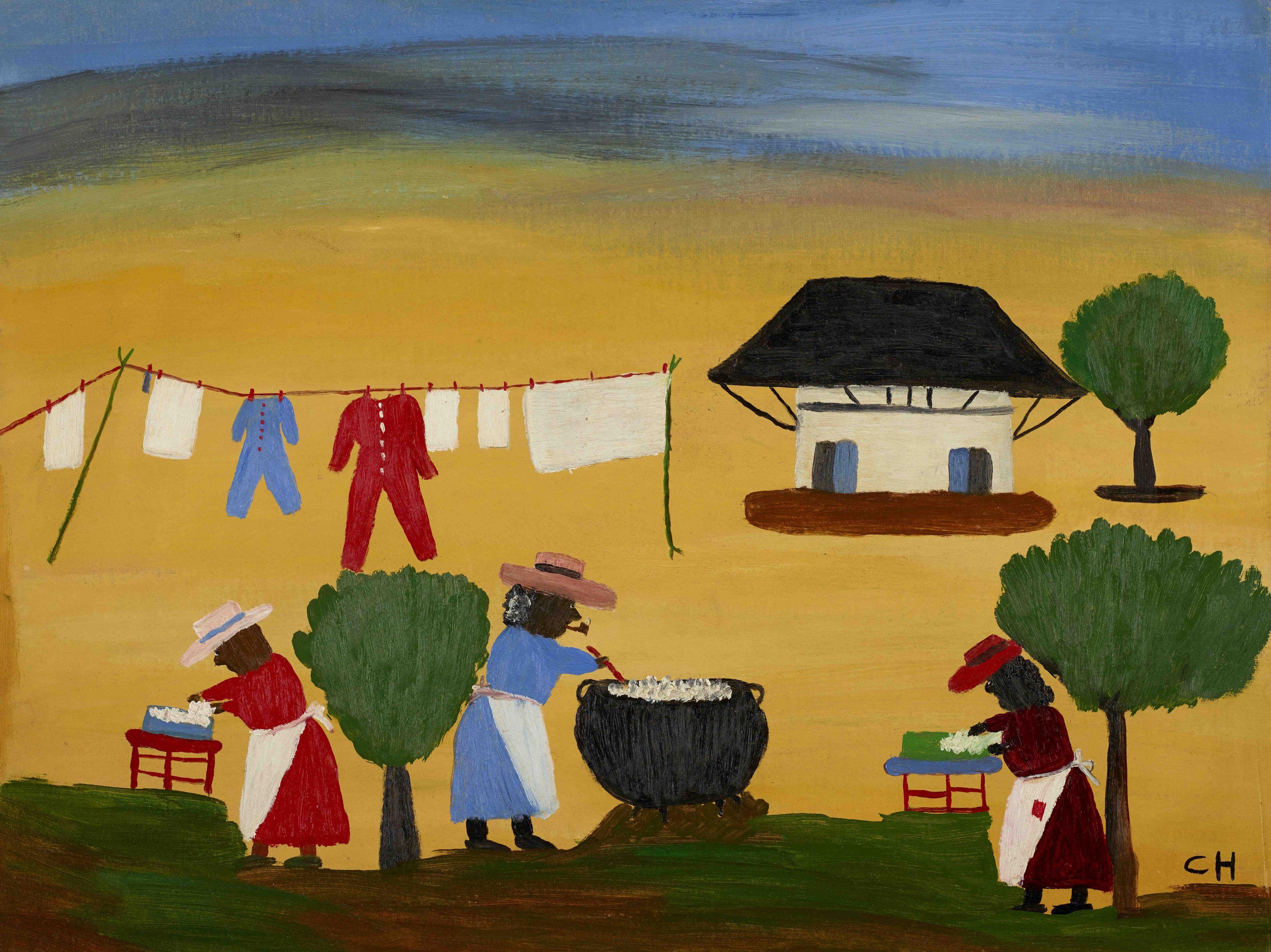 Clementine Hunter The Wash, c. 1950s