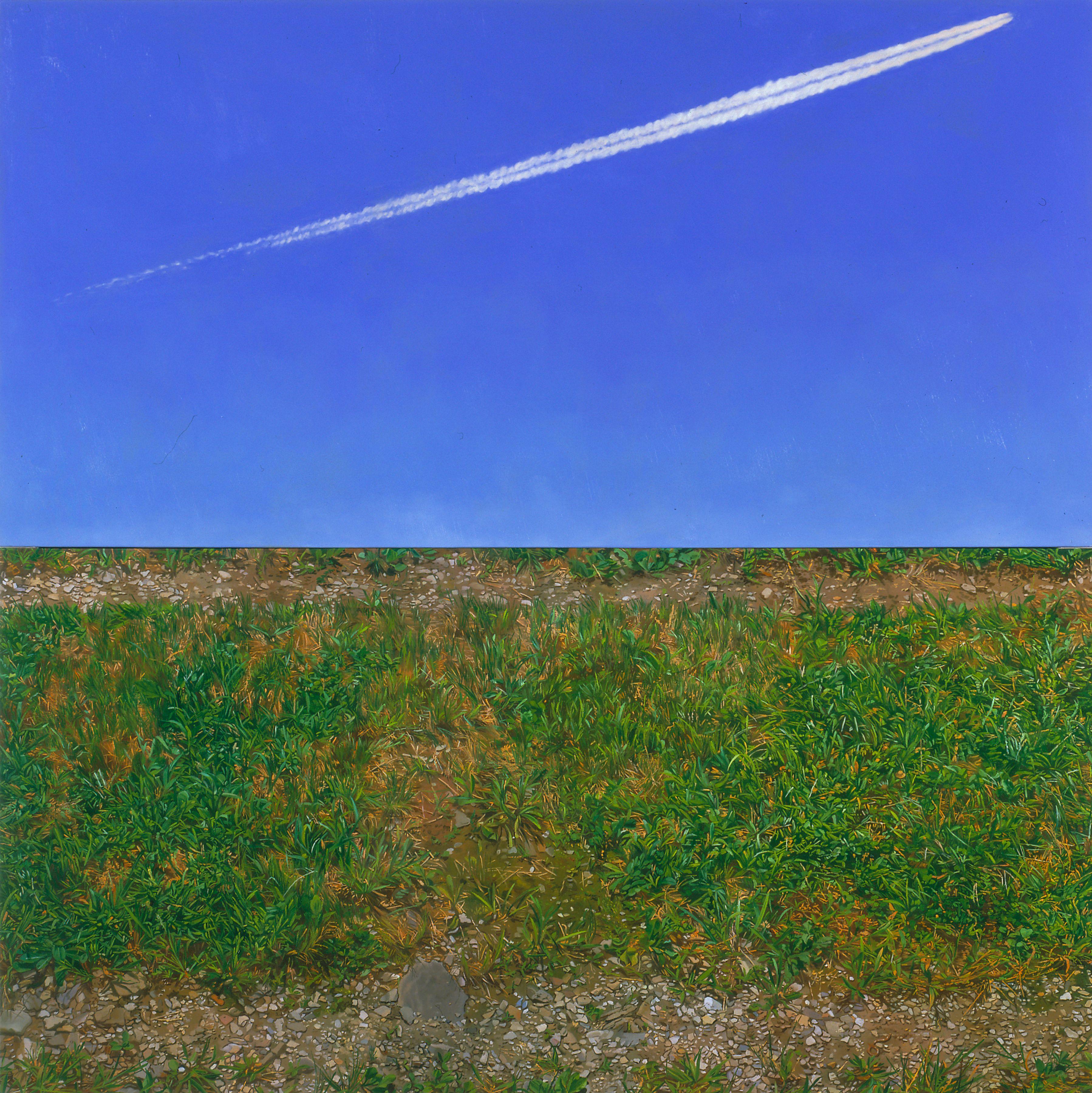 Tracks 2003 oil on canvas, diptych