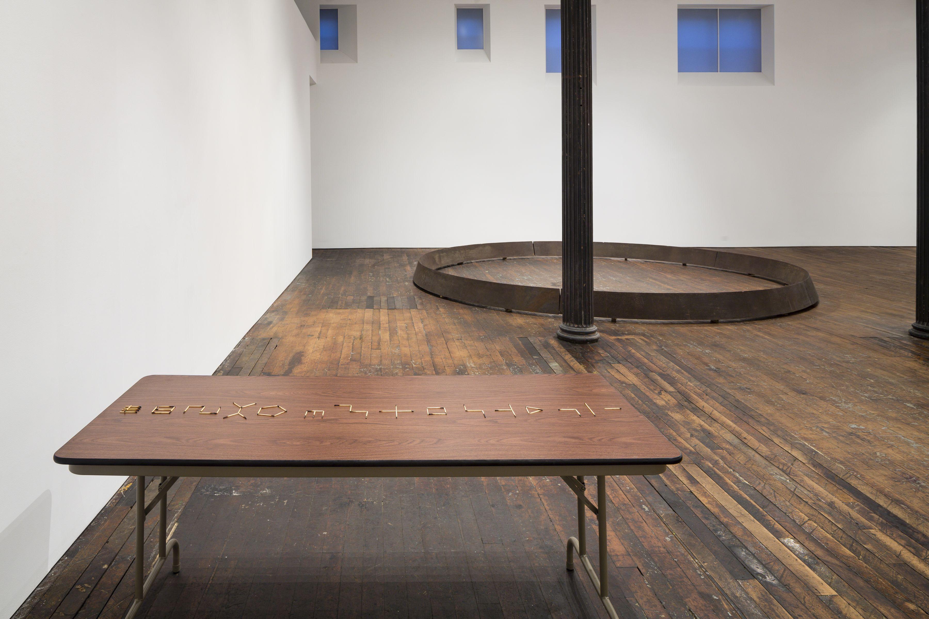 Untitled: Benassi, Bochner, Cabrita Reis, Gober, Nauman, Serra, Sosnowska, Tuttle, Walther– installation view 10