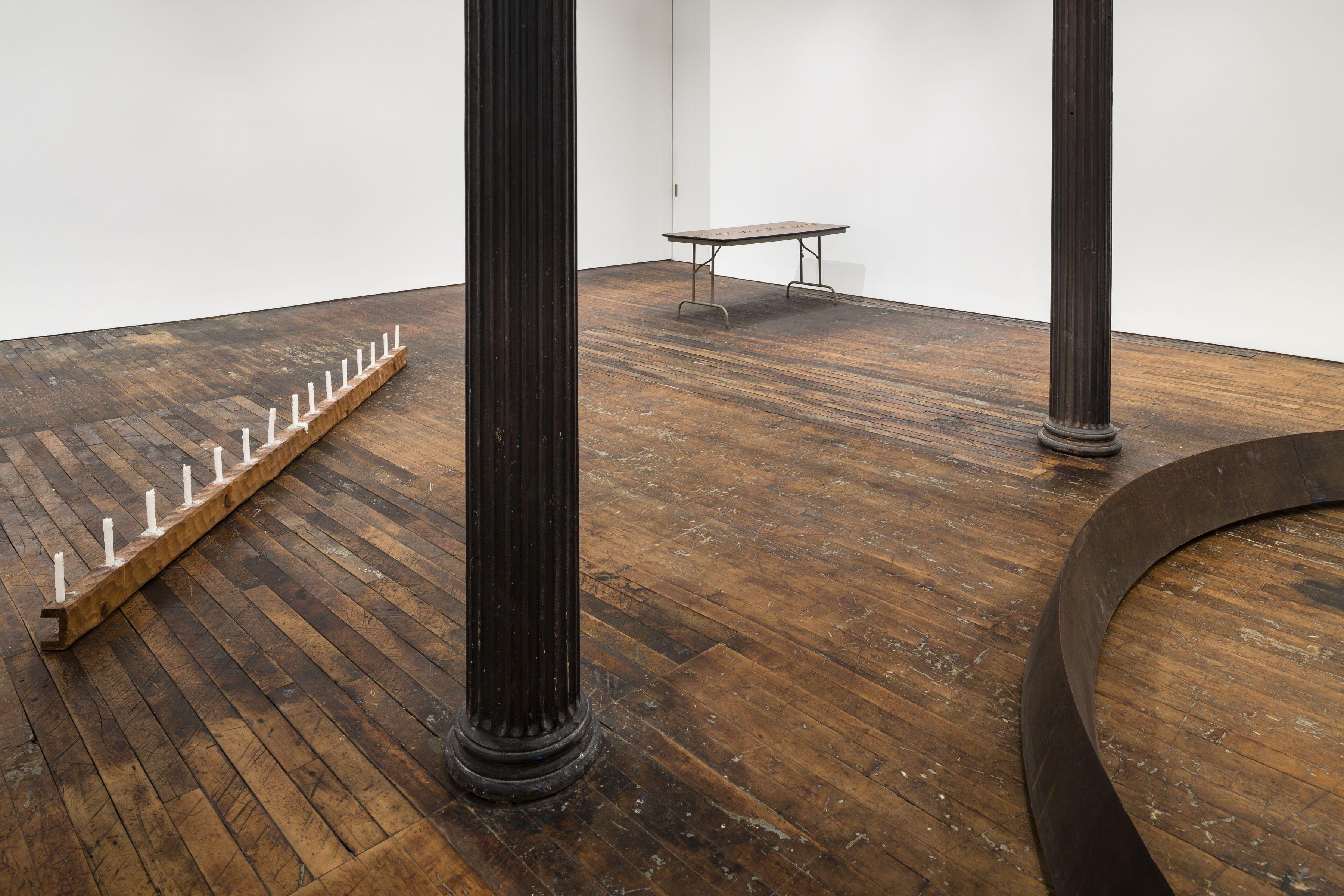 Untitled: Benassi, Bochner, Cabrita Reis, Gober, Nauman, Serra, Sosnowska, Tuttle, Walther– installation view 11