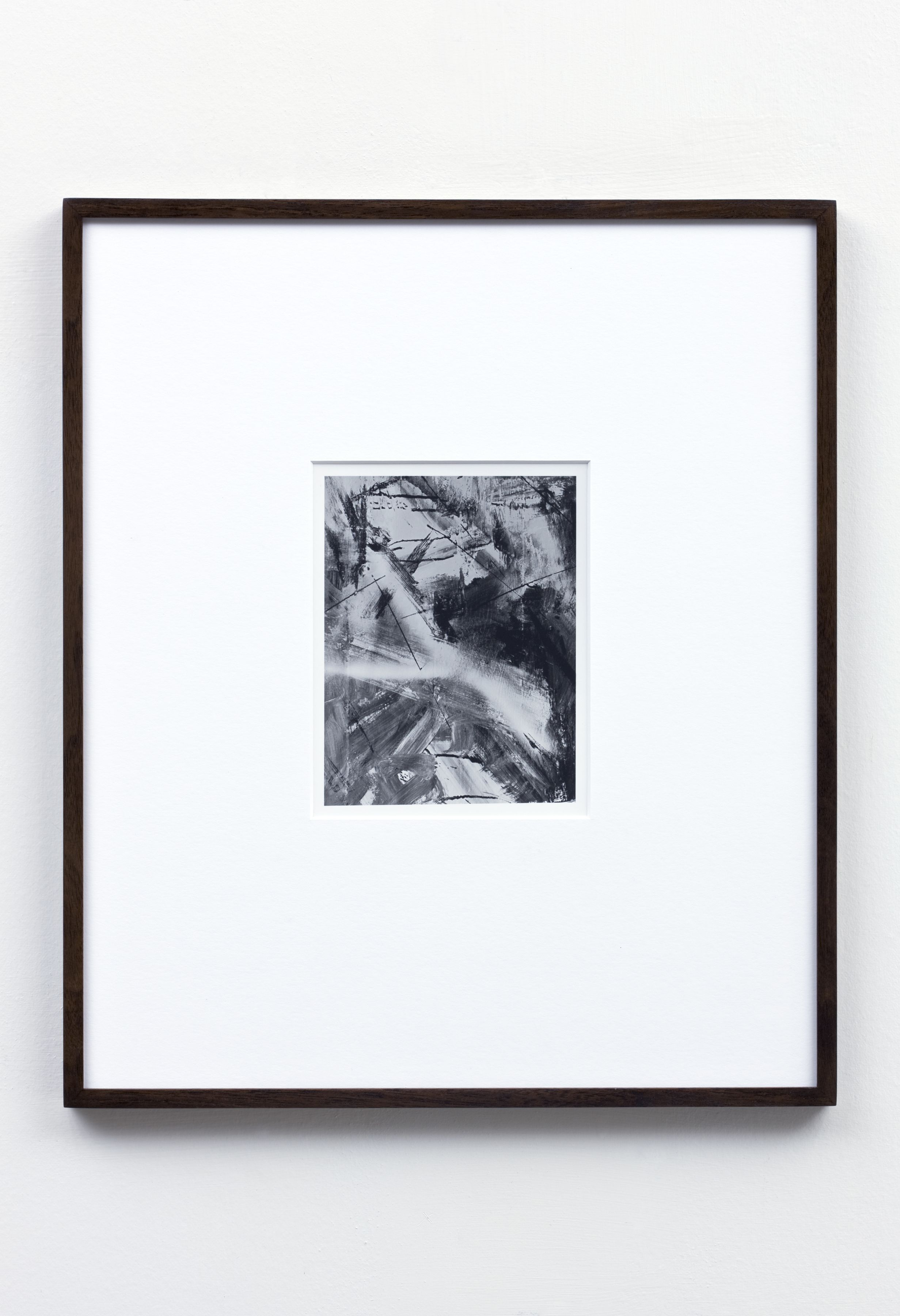 black and white abstract photograph by anthony pearson in a new york city exhibition