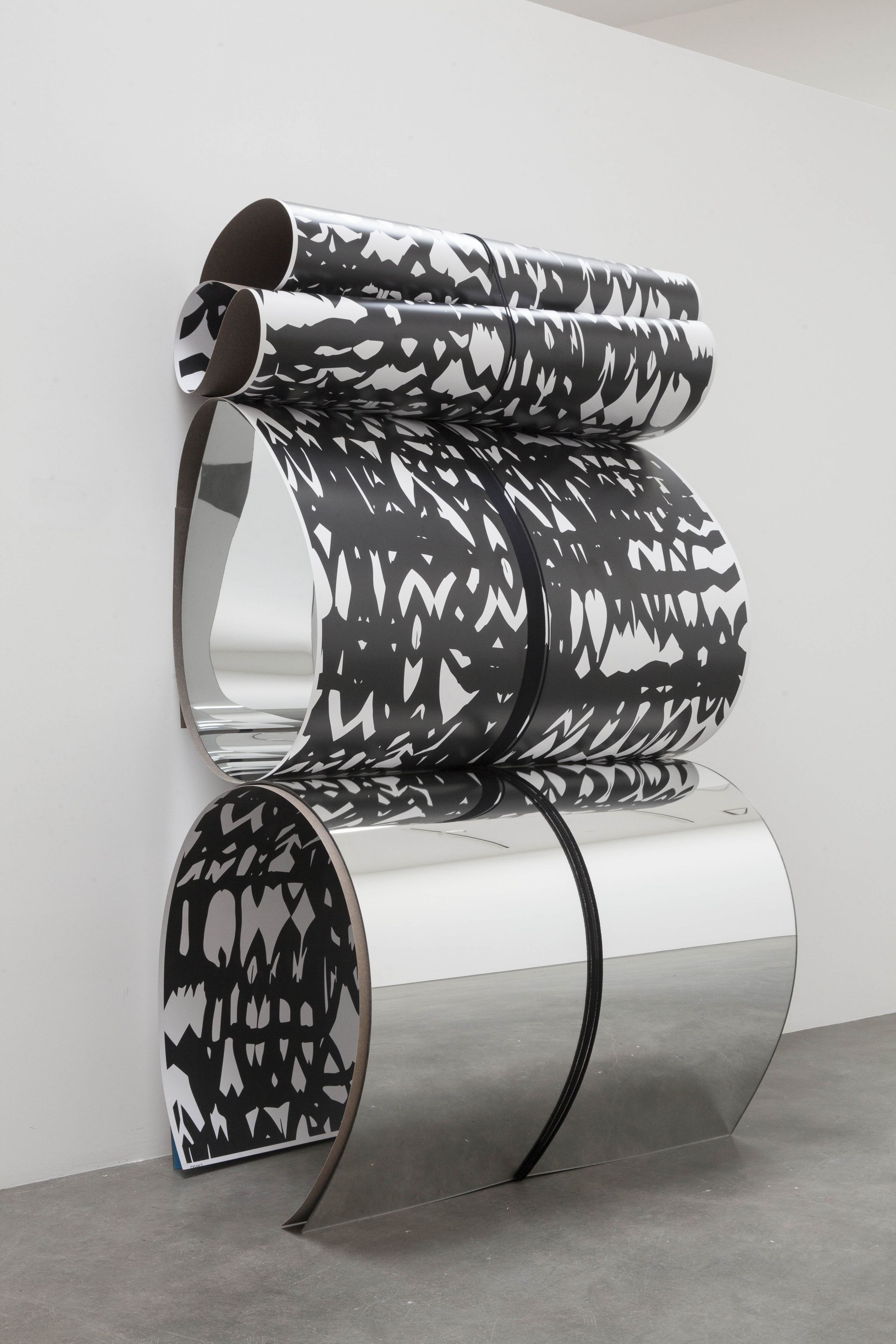 a sculpture by Julia Dault in a Chelsea contemporary art gallery
