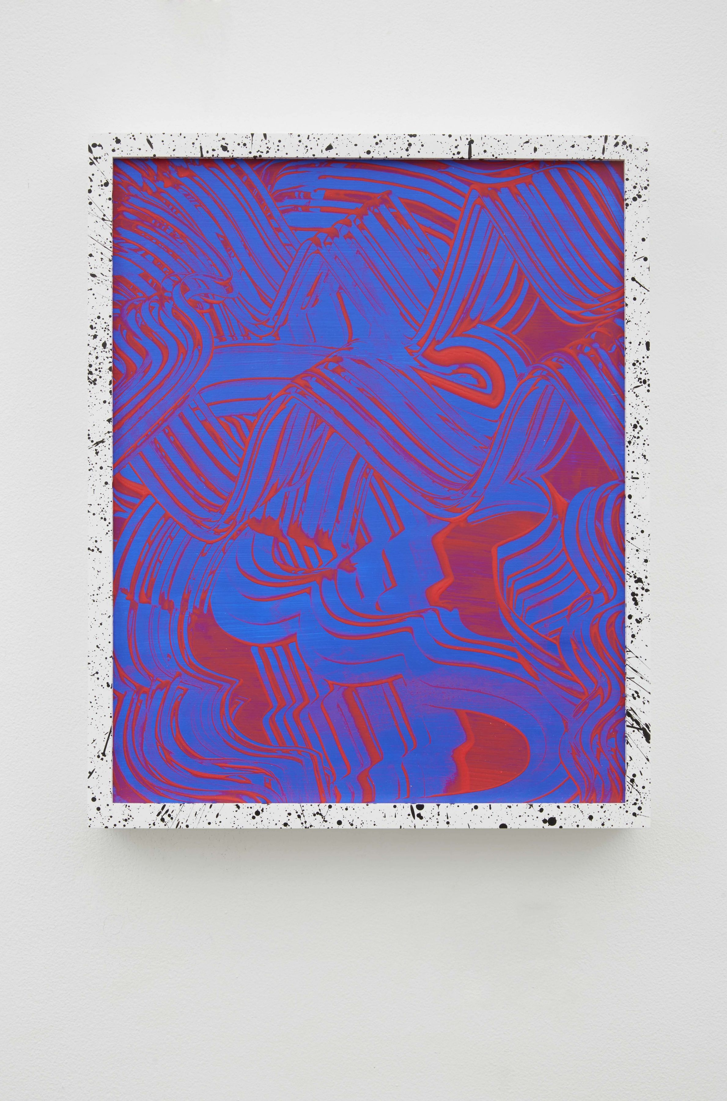 Twizzler, 2014, Acrylic on wooden panel in painted wood frame