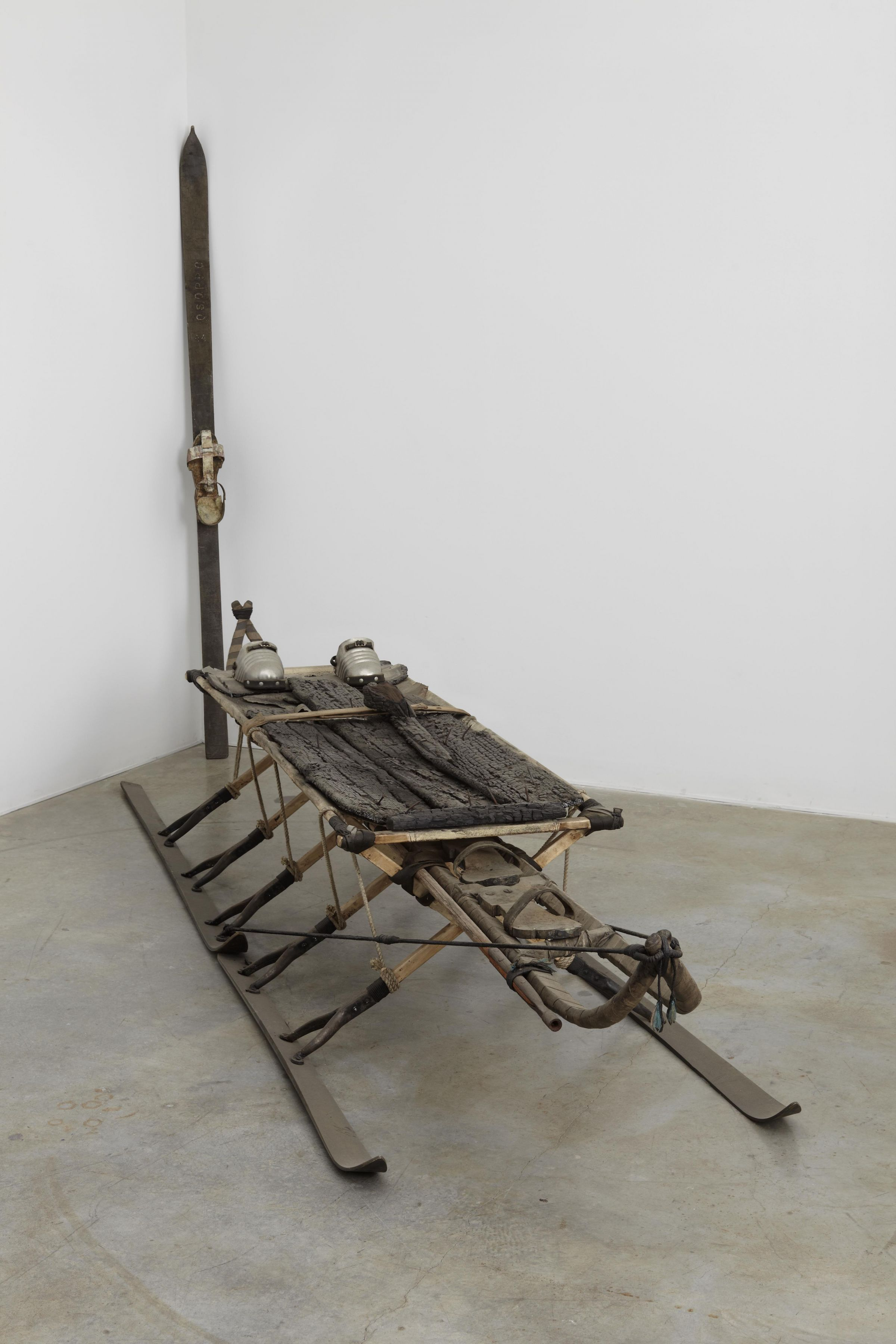 a sled type sculpture by italian contemporary artist salvatore scarpitta