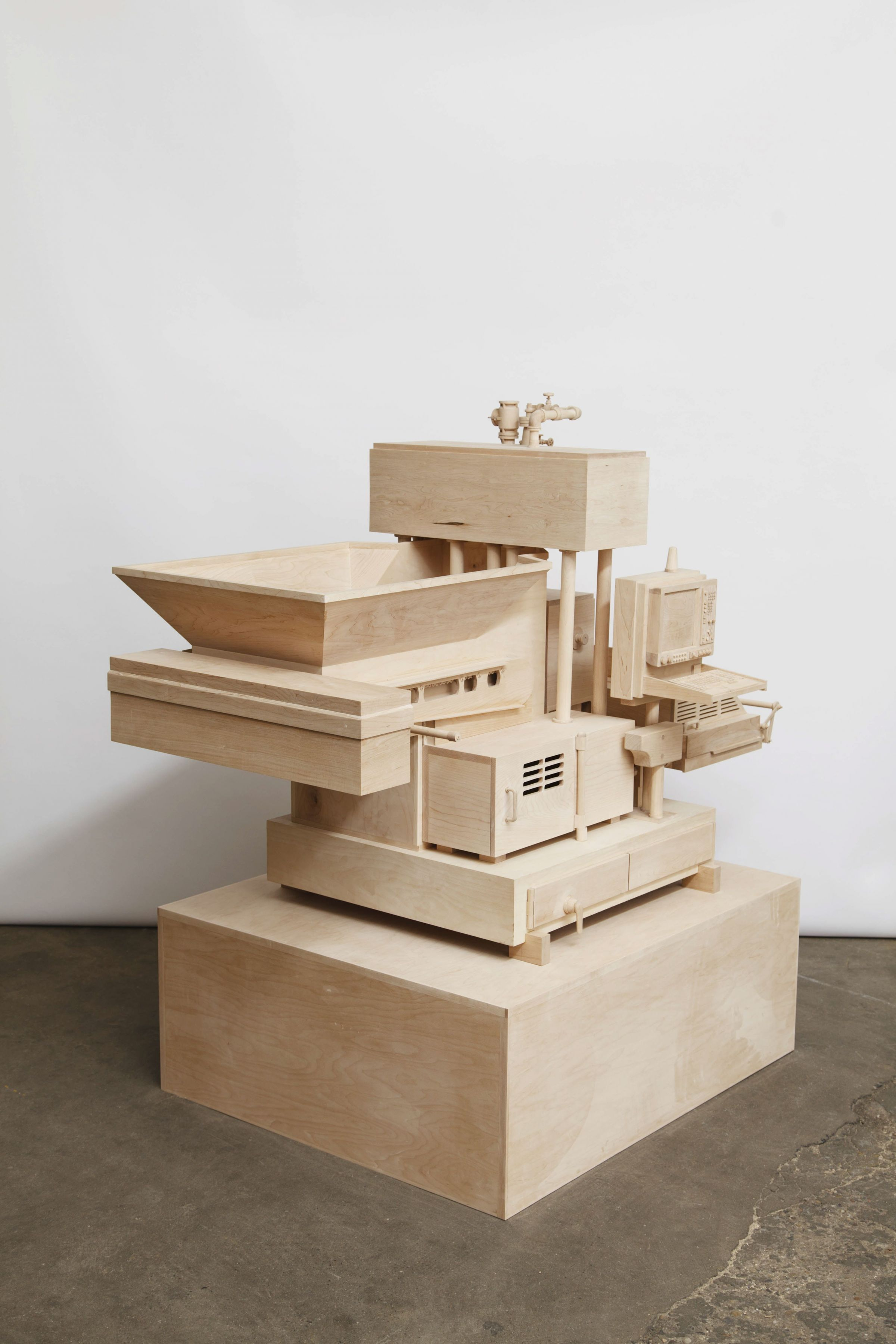 Machine of Indeterminacy, 2014, Maple