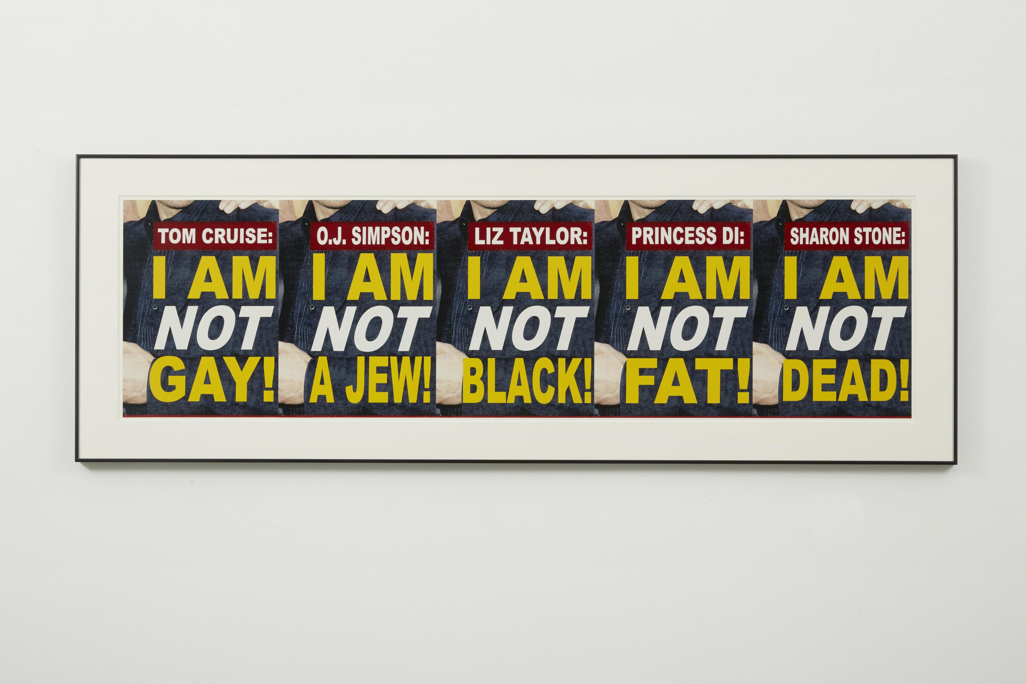 I am not print by John Waters in a contemporary art exhibition