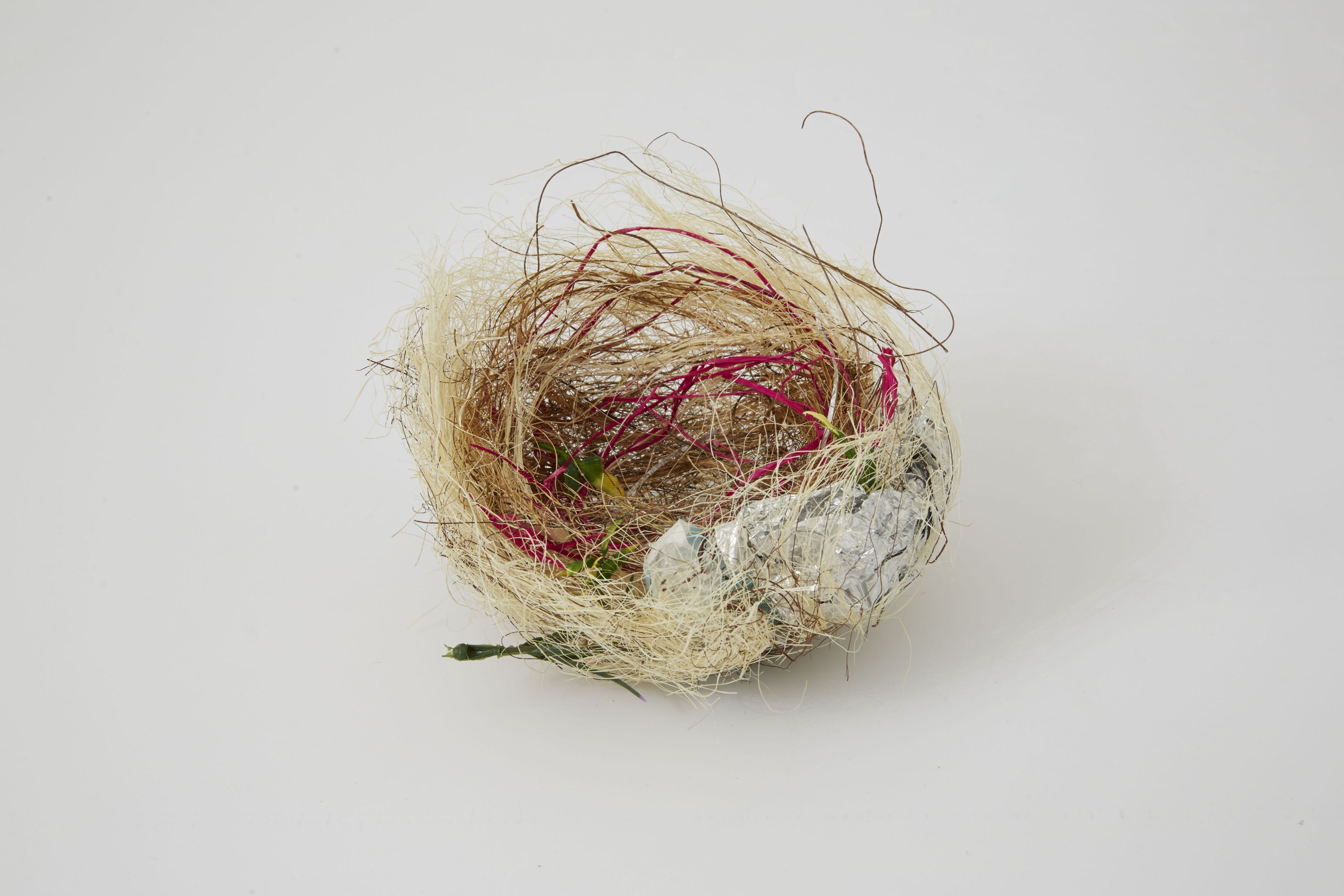 a sculpture of a bird's nest for sale at a Chelsea gallery
