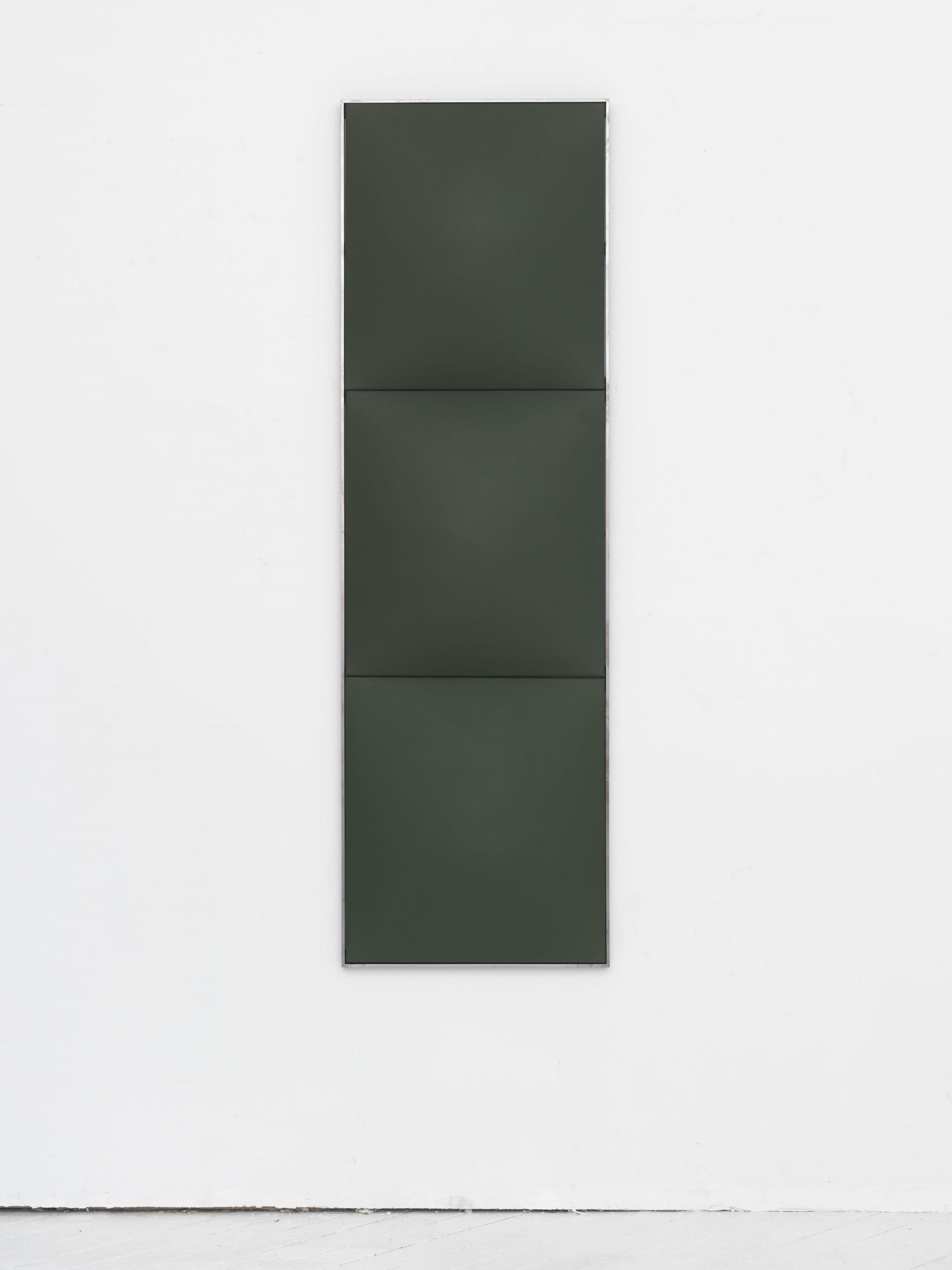 Green in Blue, 2016, Fiberglass reinforced plaster and oil on cotton in artist frame