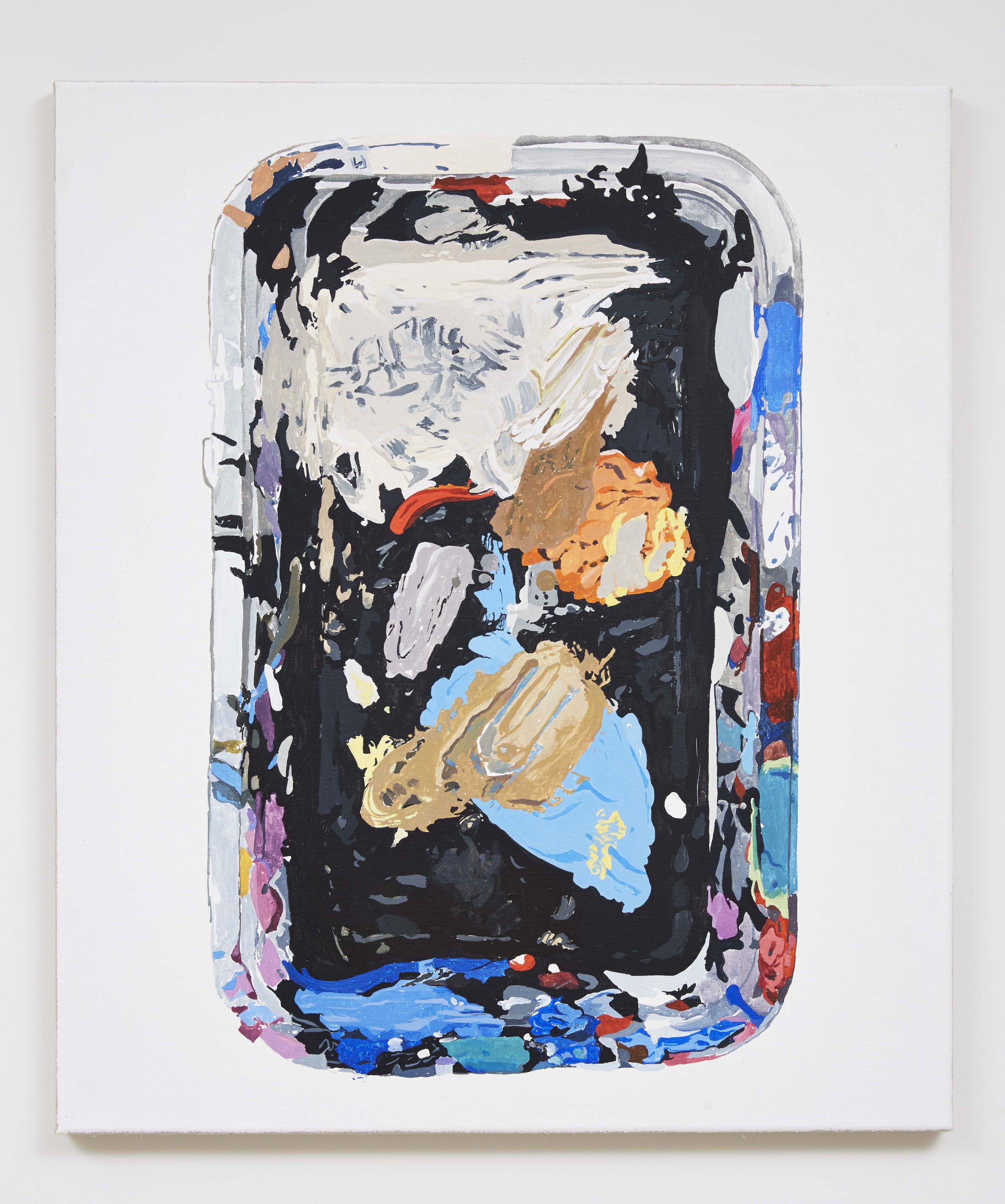 Material Evidence (Tray), 2014, Acrylic on linen