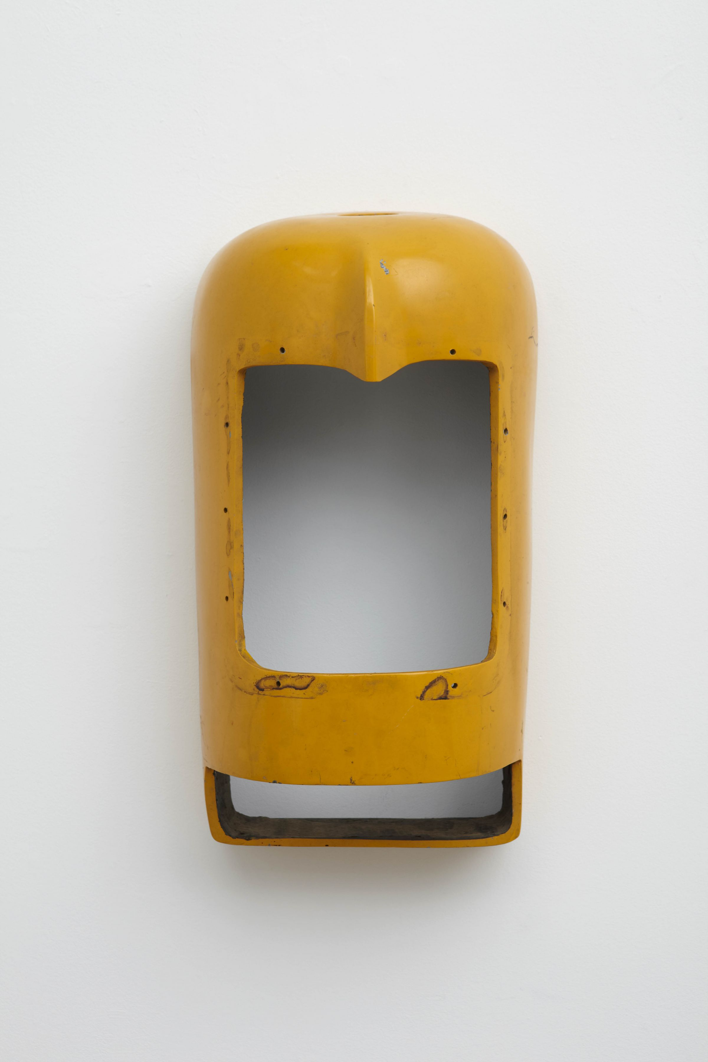 a fiberglass yellow sculpture by salvatore scarpitta for sale at marianne boesky gallery