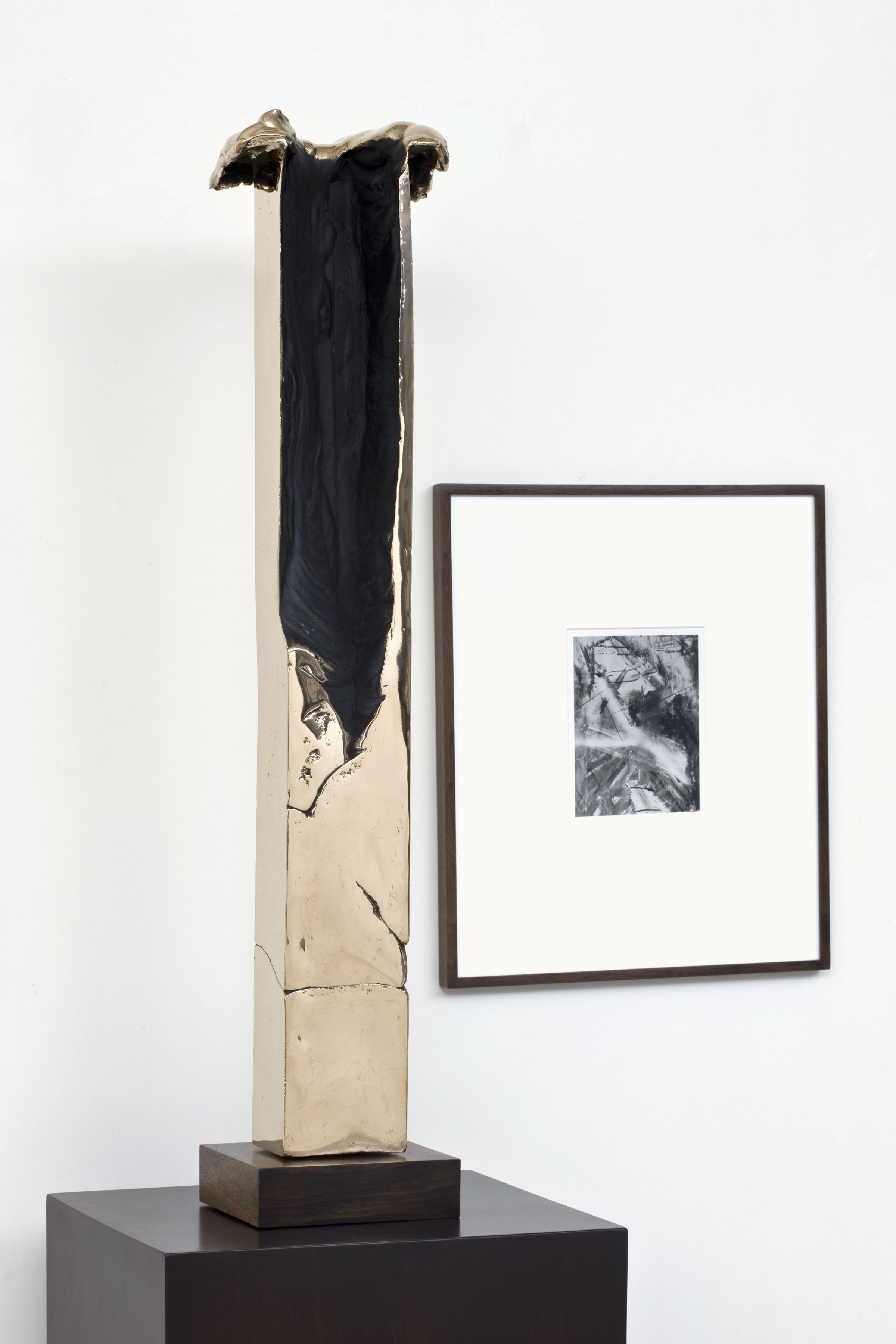 detail of a sculpture and photograph by contemporary artist anthony pearson