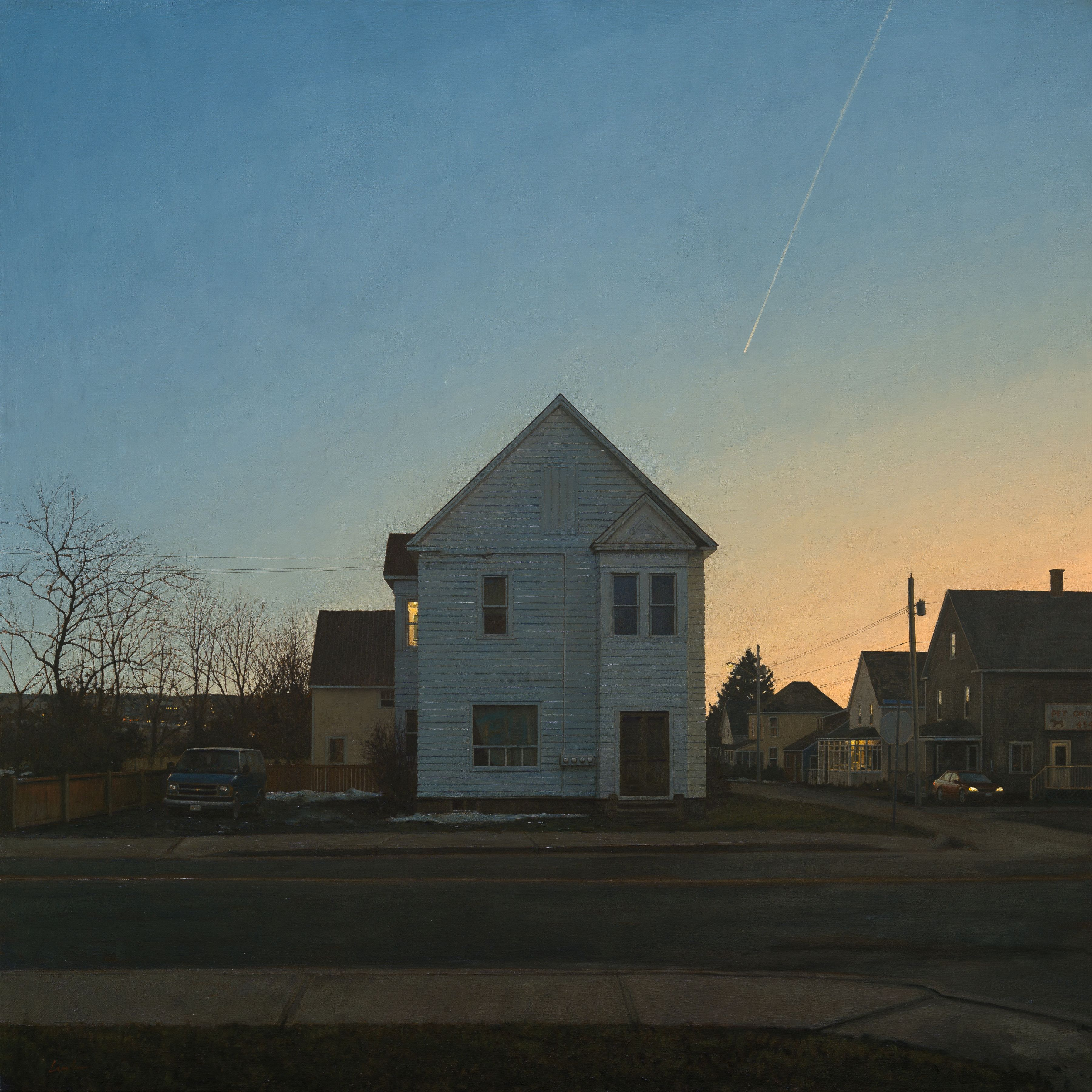 linden frederick, Tenant (SOLD), 2013, oil on linen, 55 x 55 inches