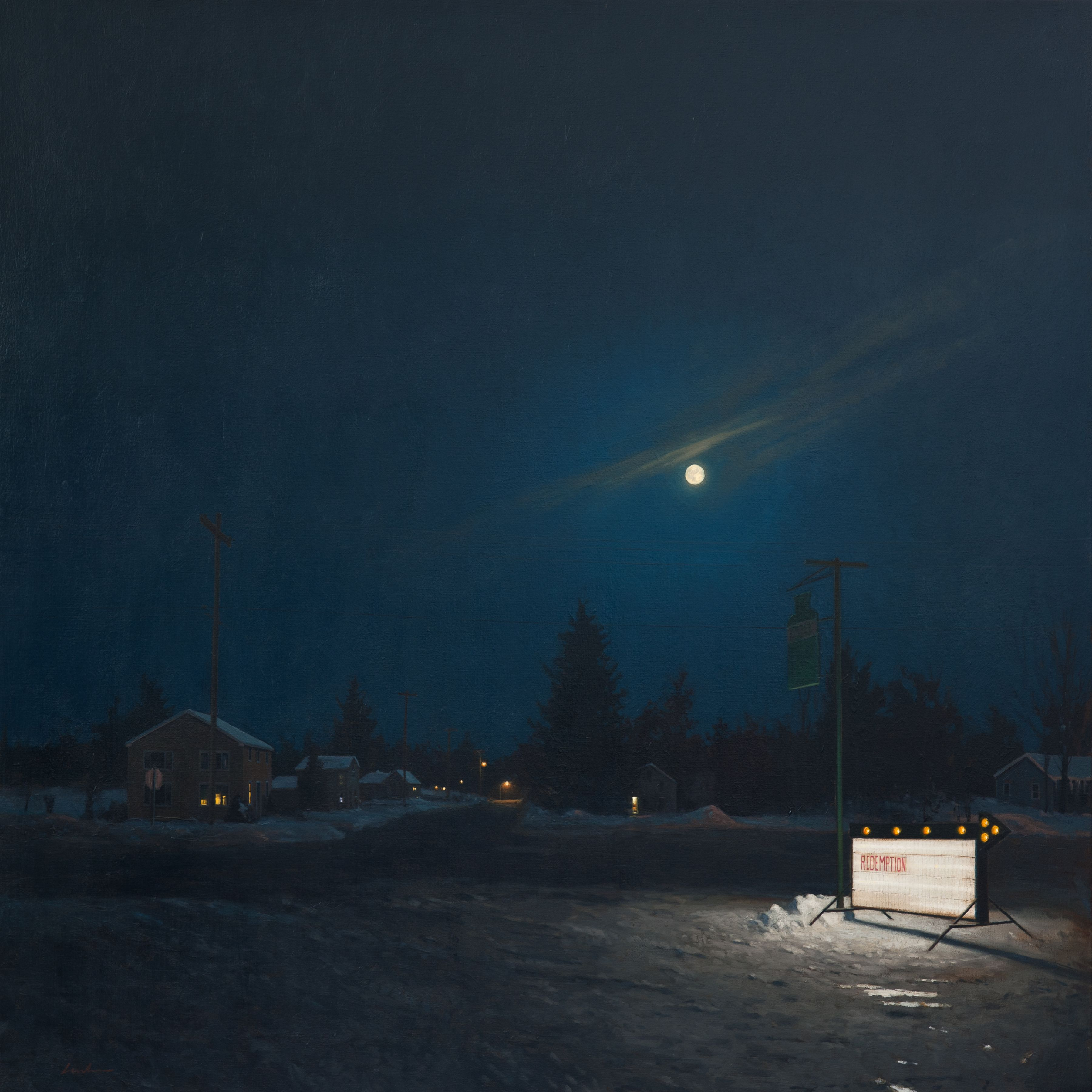 linden frederick, Redemption (SOLD), 2011, oil on linen, 45 x 45 inches