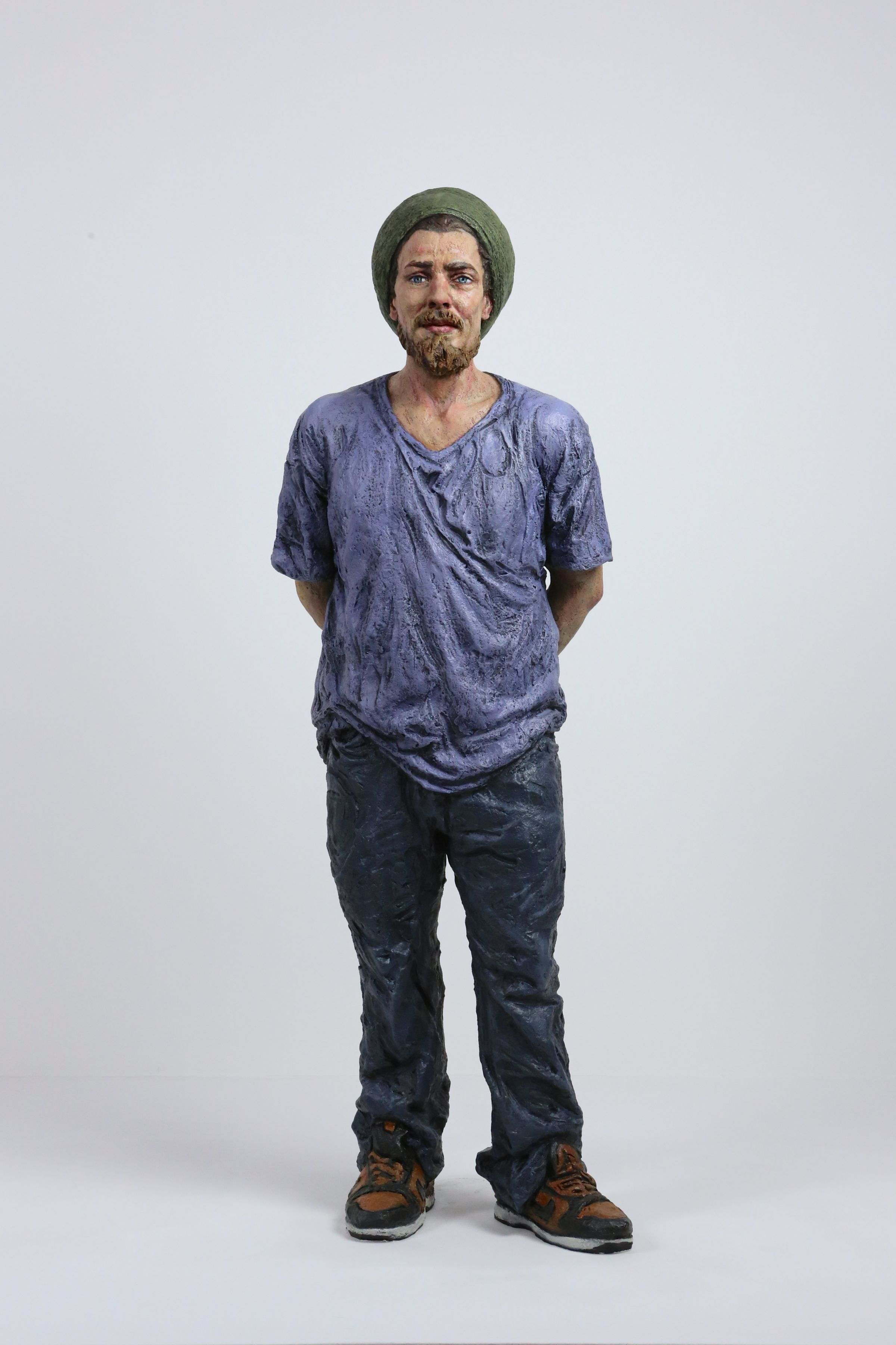 sean henry, LM, 2014, bronze, oil paint, 32 x 11 x 9 inches, Edition of 6