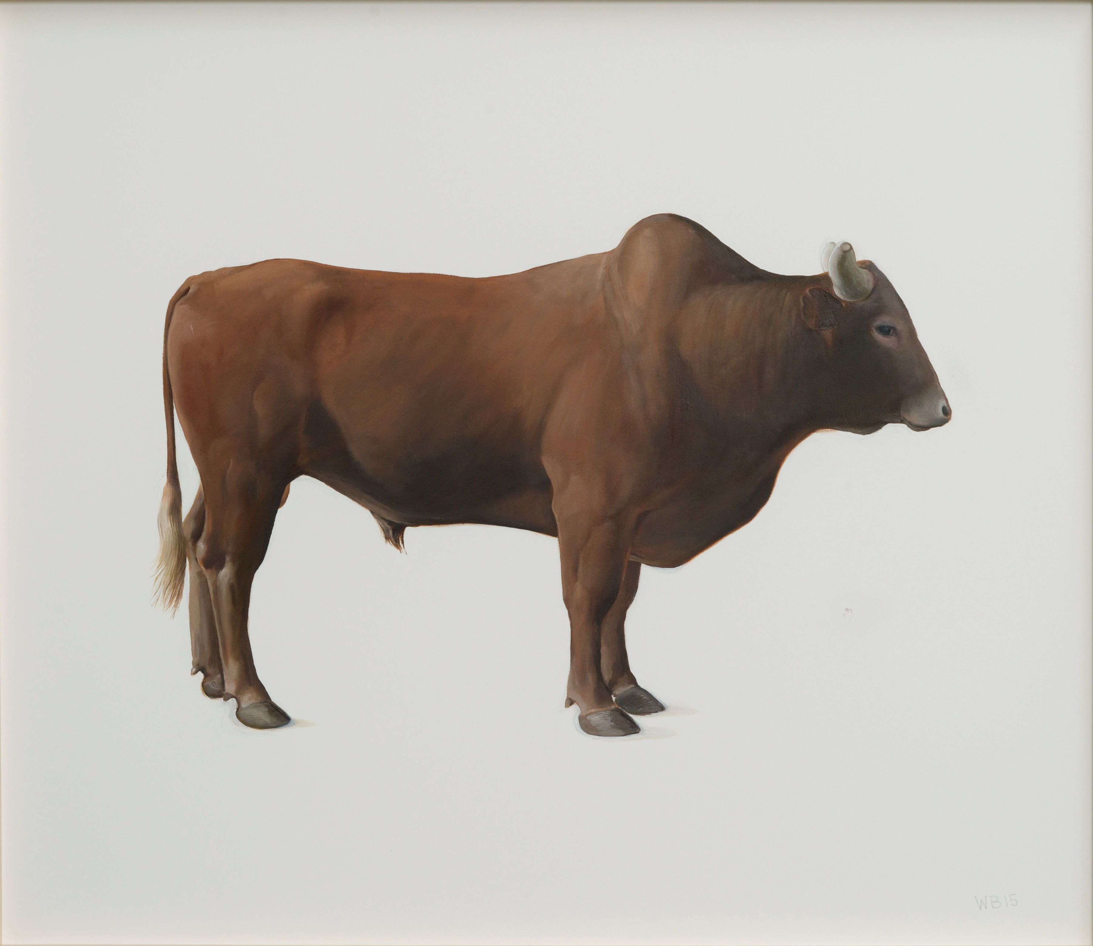 William Beckman, Brown Bull, 2015, oil on paper, 25 3/8 x 29 3/8 inches