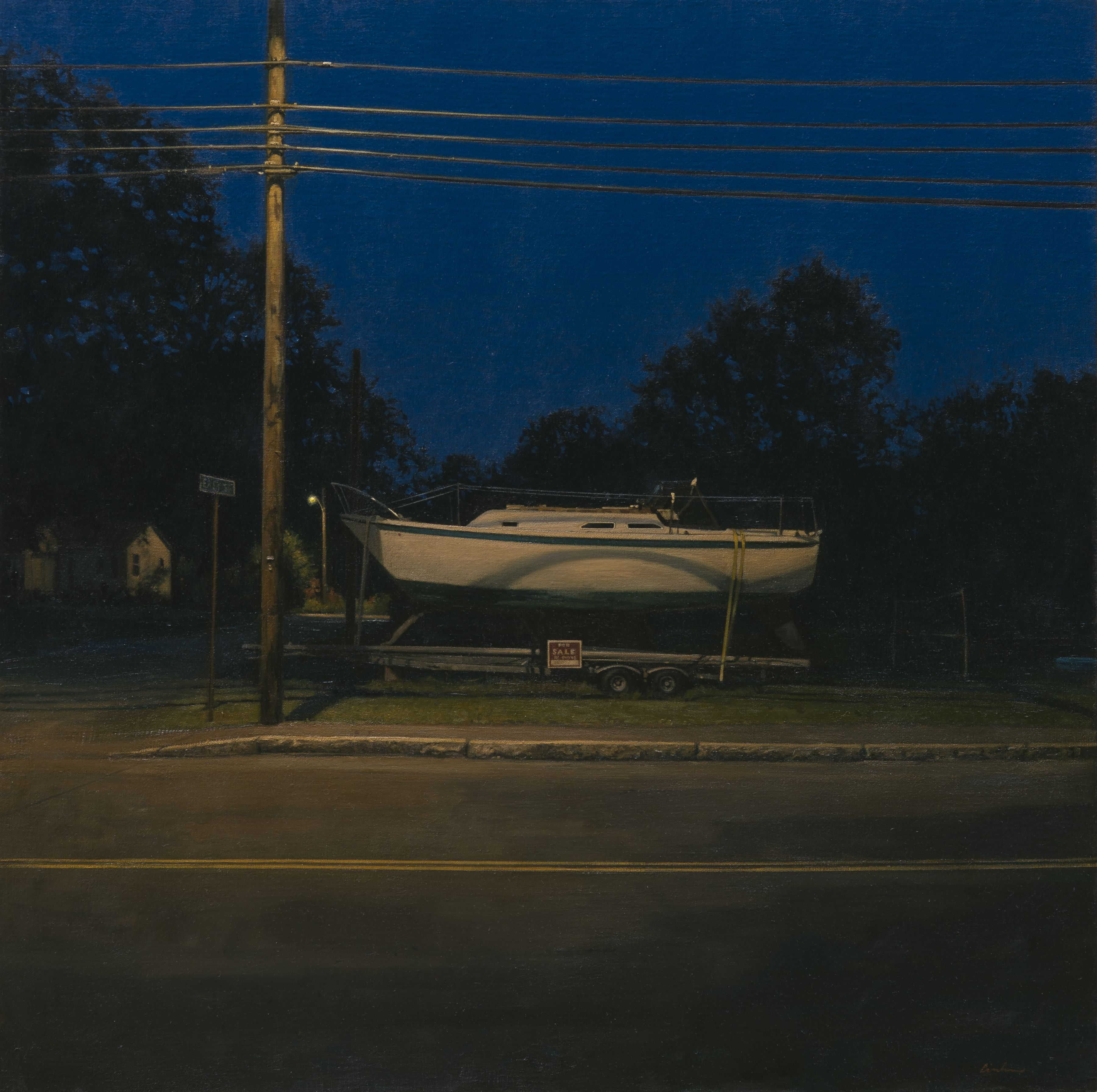 linden frederick, For Sale By Owner (SOLD), 2014, oil on linen, 34 x 34 inches