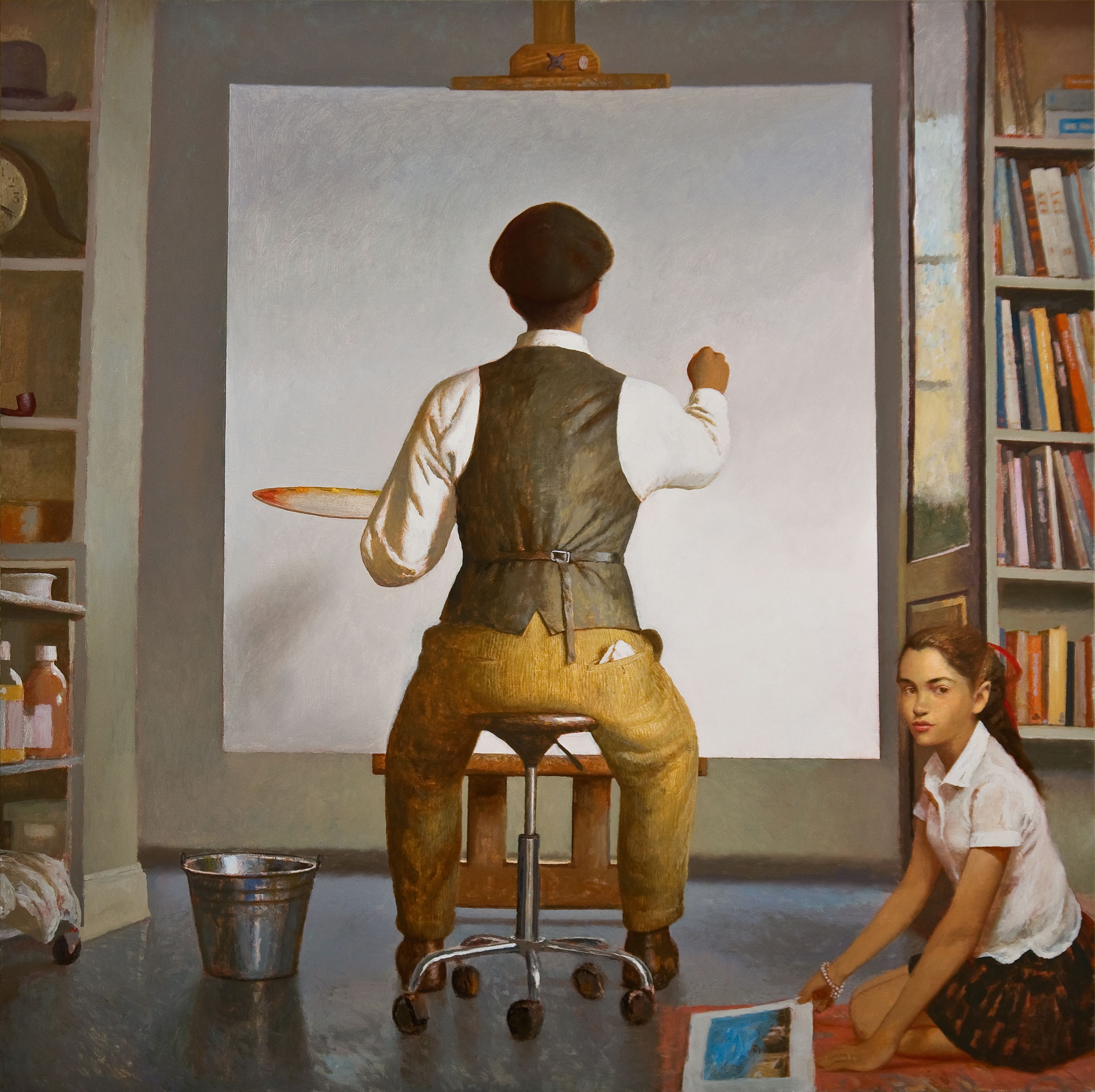 Bo Bartlett, A New Beginning (SOLD), 2008, oil on linen, 60 x 60 inches