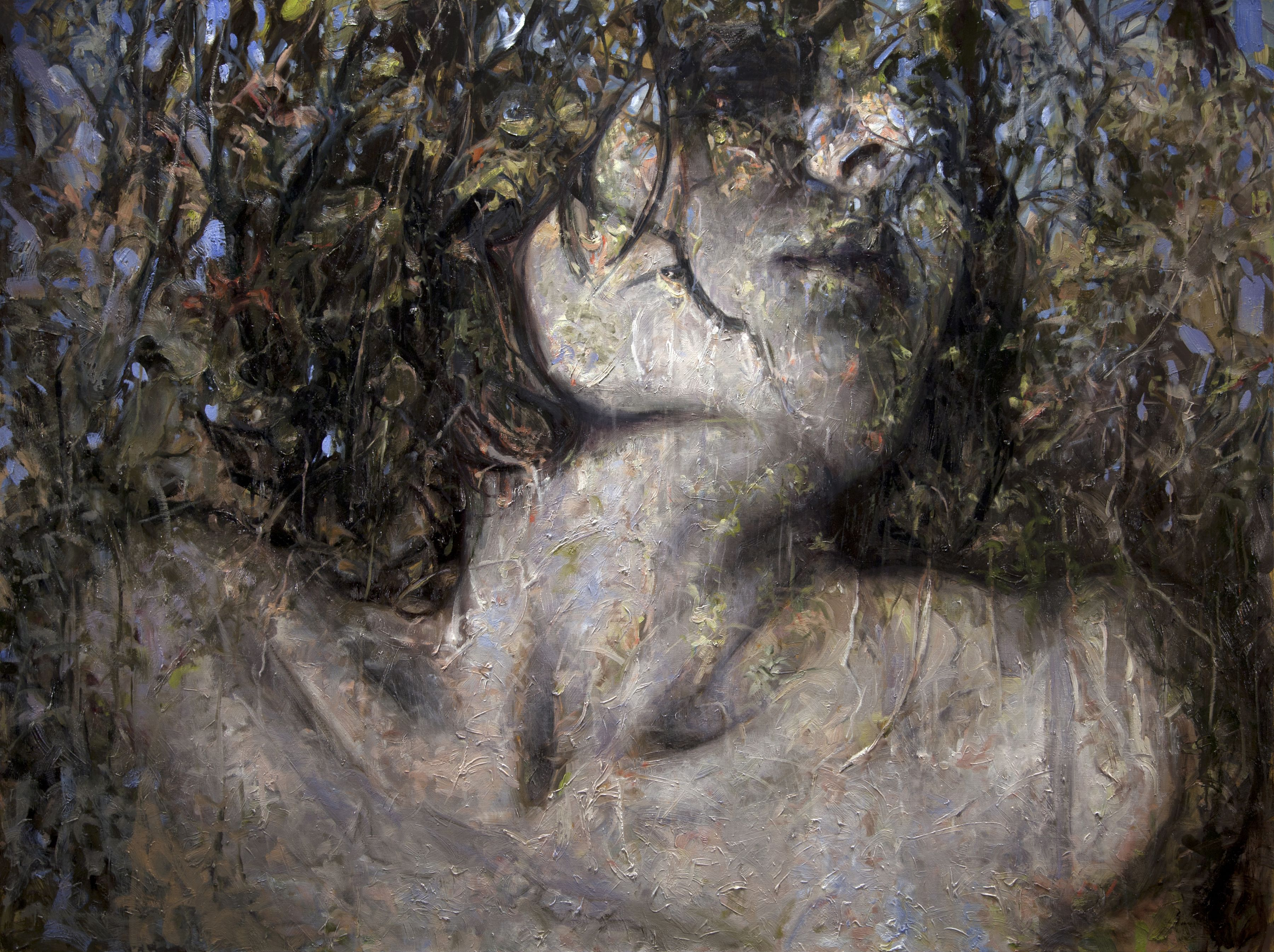 alyssa monks, Harmony (SOLD), 2016, oil on linen, 60 x 80 inches