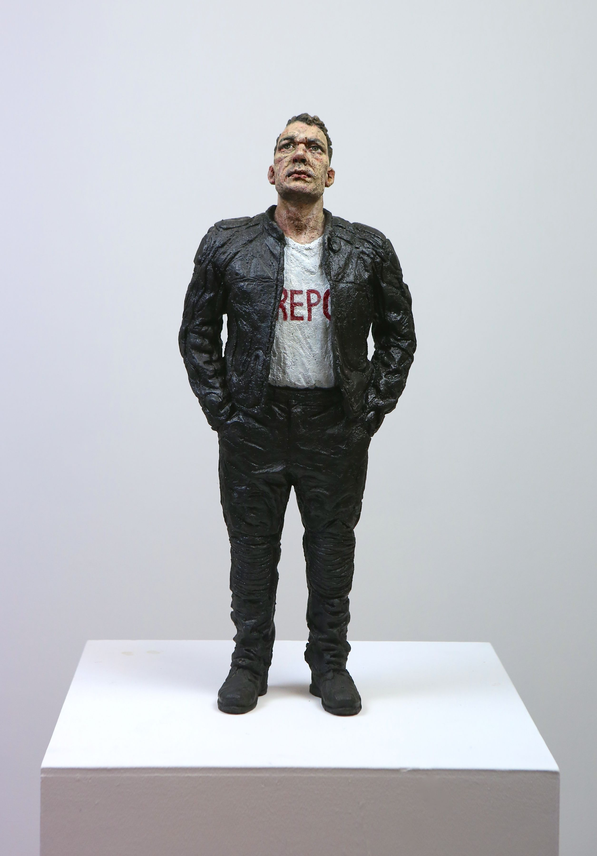 sean henry, Repo, 2014, bronze, oil paint, 21 x 8 3/4 x 5 1/2 inches, Edition of 9