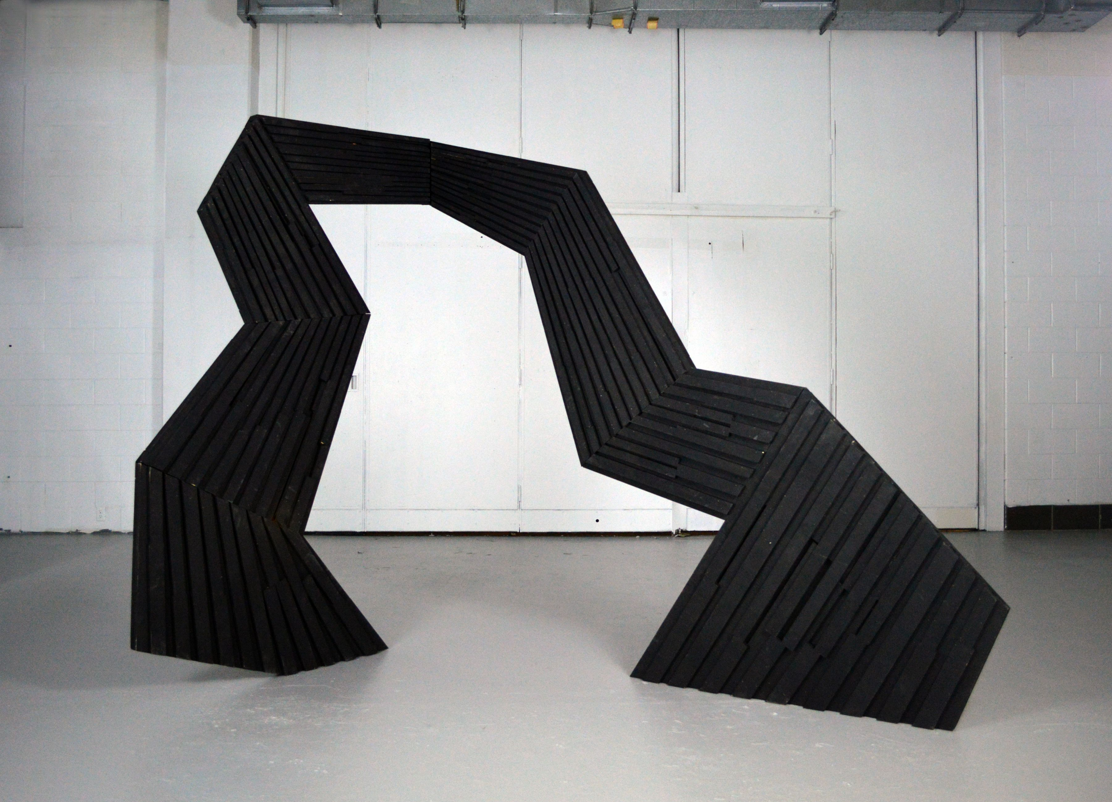 ROB HACKETT Archway 2013, plywood, steel, and paint, 8 x 13 x 5 feet.