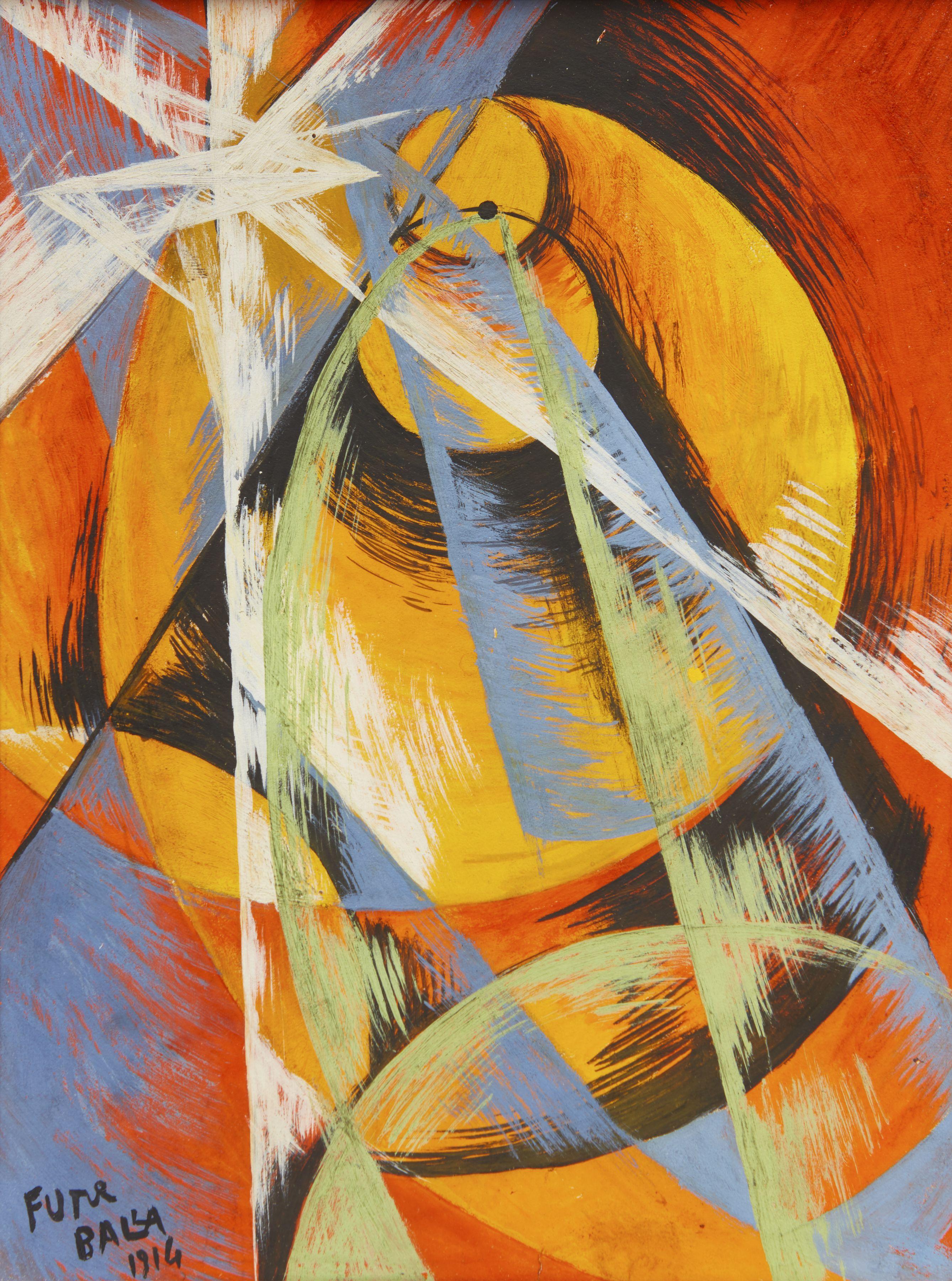 "Image of Giacomo Balla's ""Mercurio Passing in Front of the Sun"""