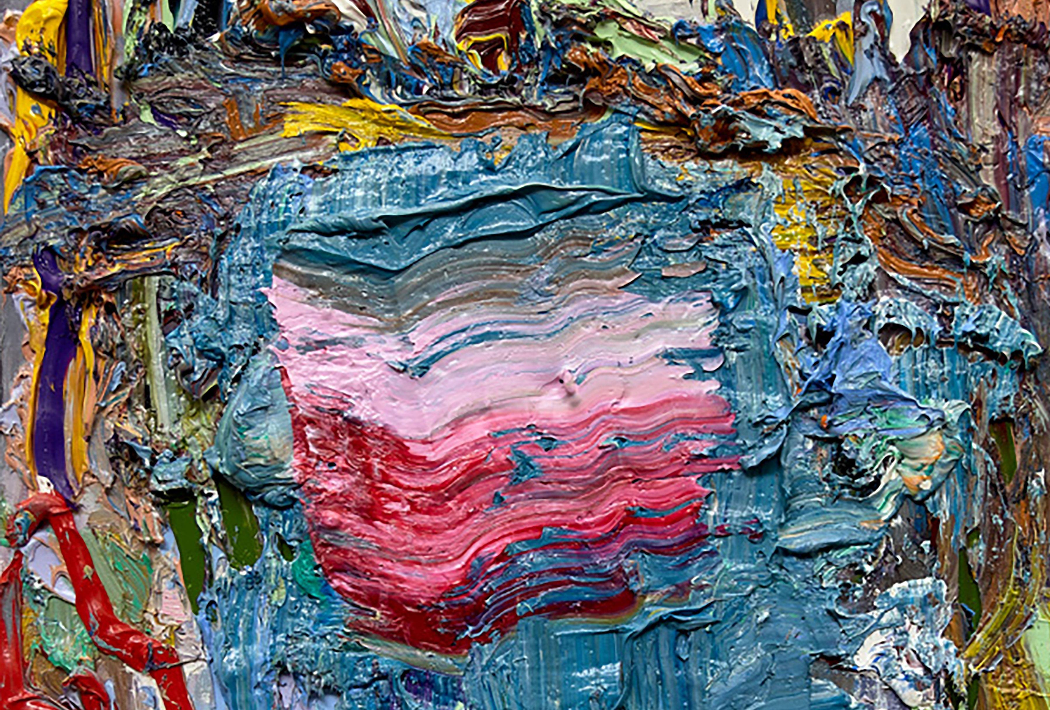 "Sunset Over The Duck Pond (Detail), 20"" x 16"", Oil On Linen"