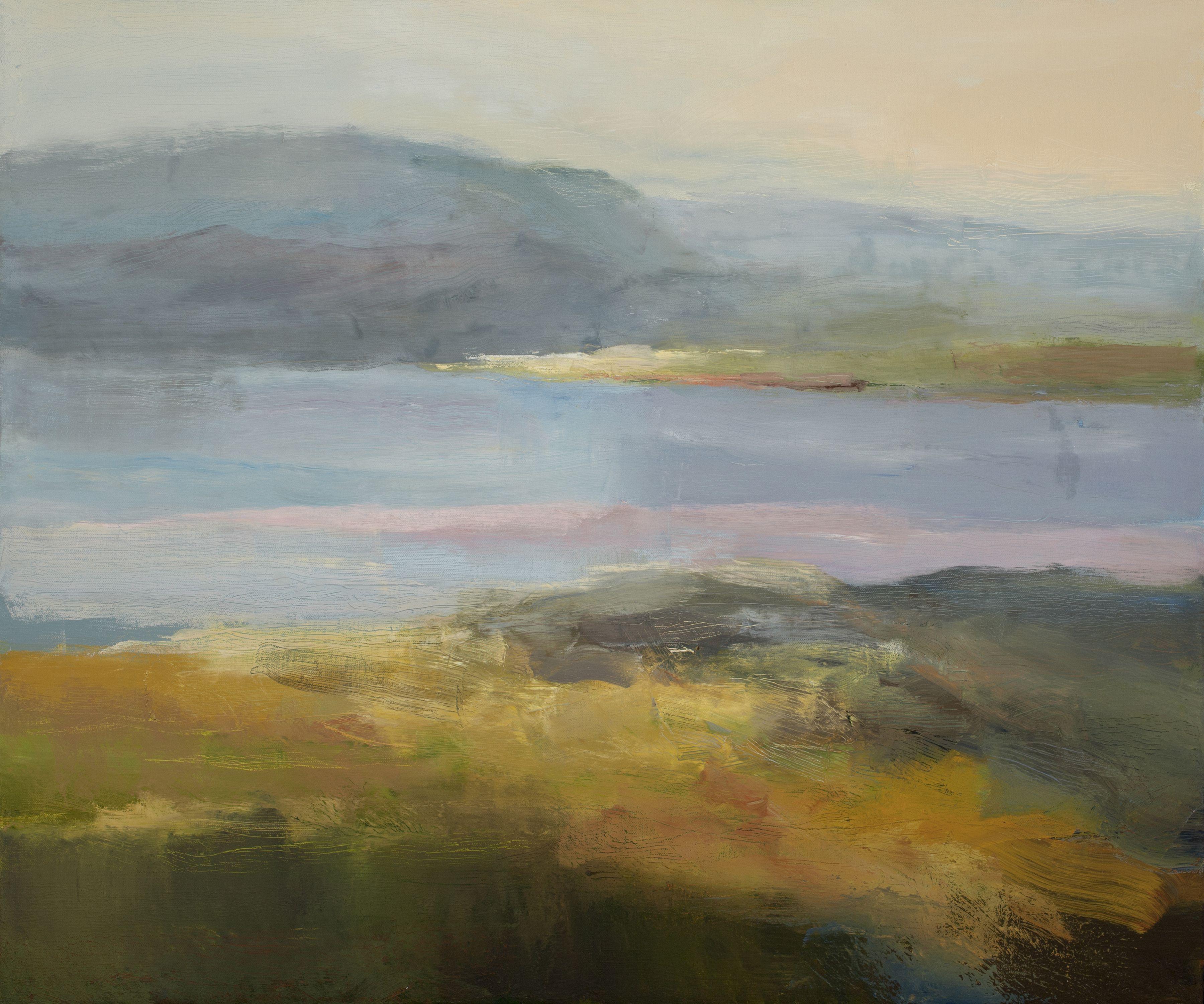 Christine Lafuente, Great Harbor In Acadia, Oil On Canvas