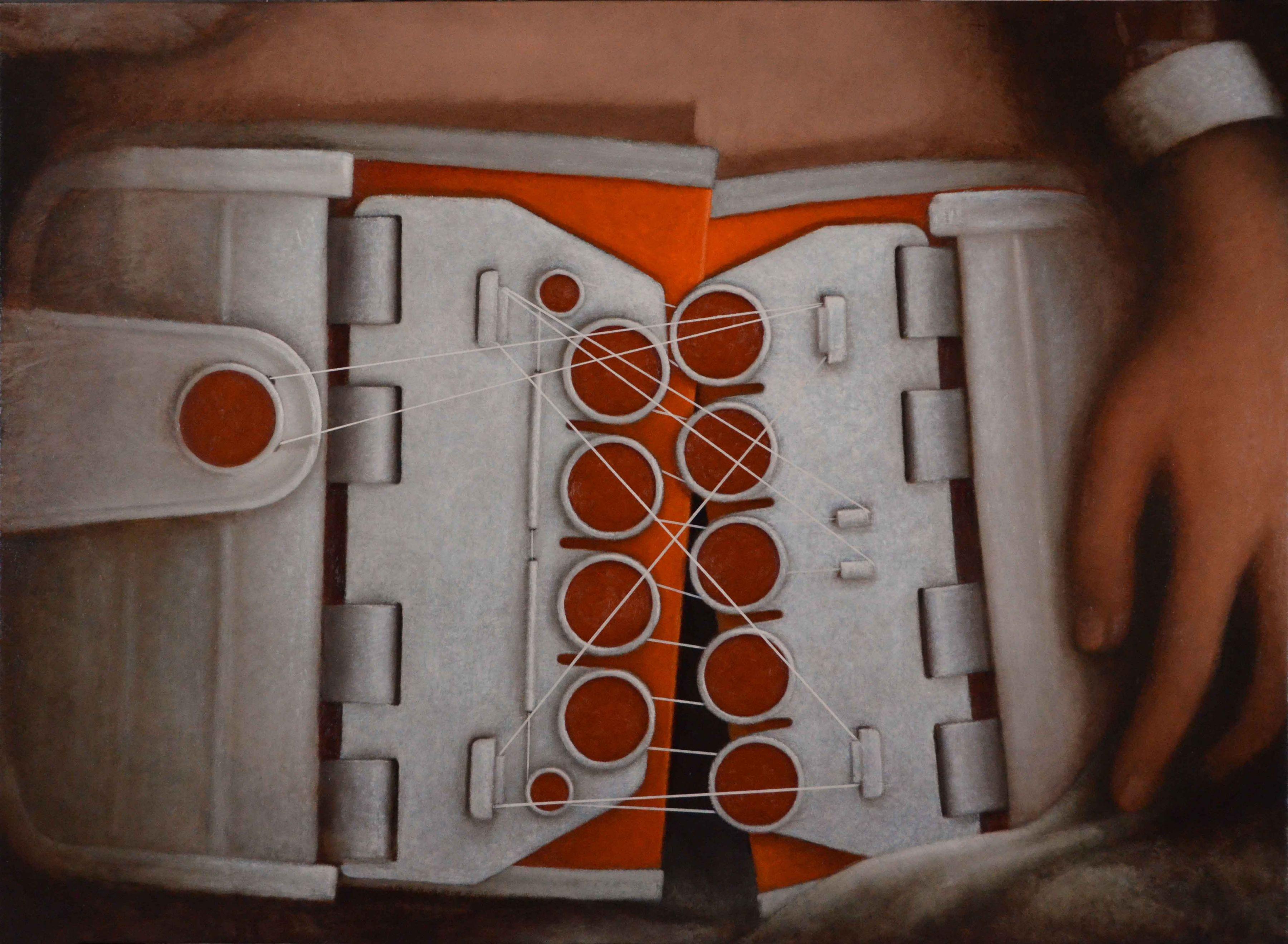 """T-POD  39"""" x 53.5""""  Oil On Panel"""