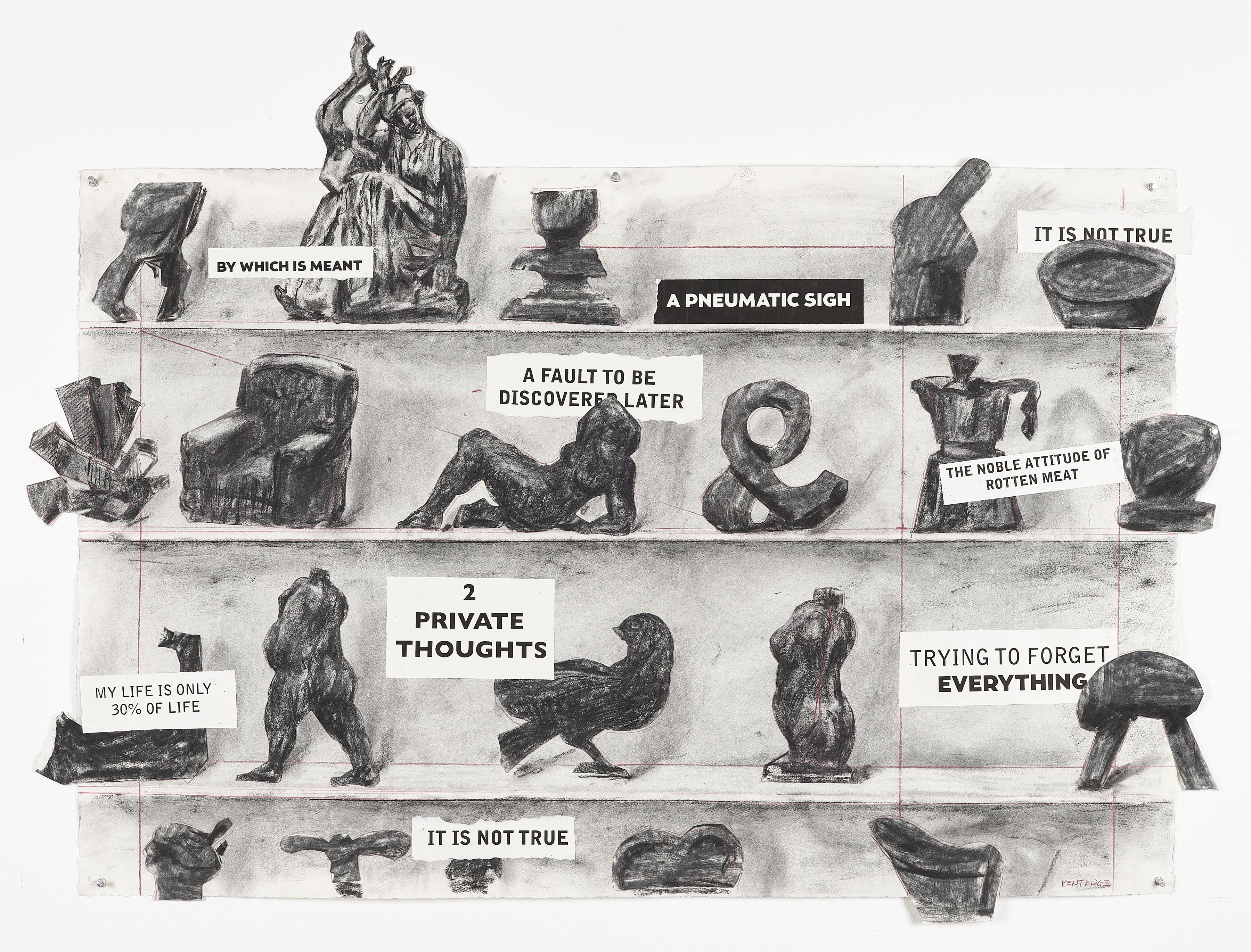 William Kentridge | Drawing for City Deep (A Fault To Be Discovered Later)