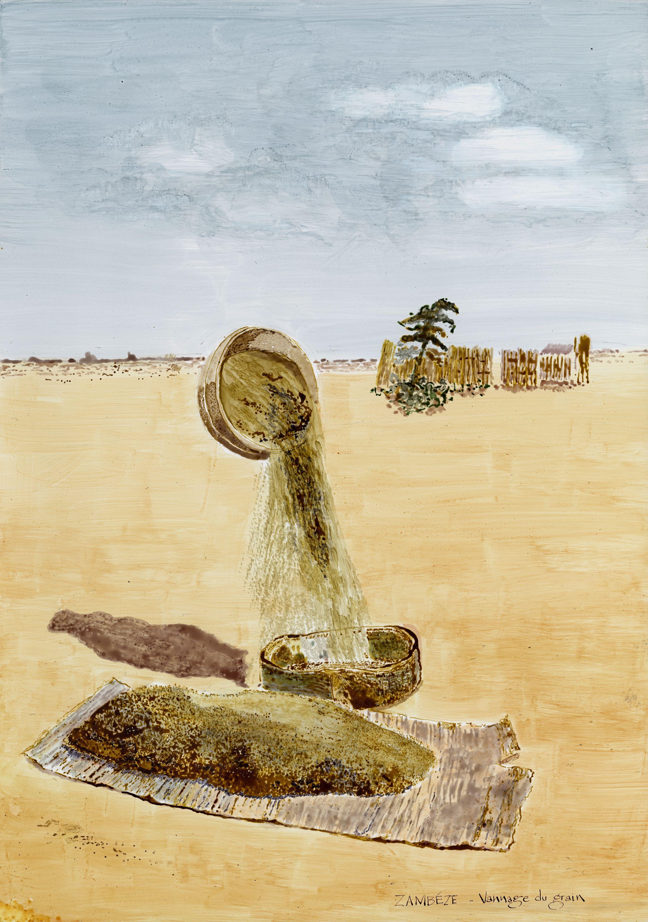 Sifting the grain, Zambeze artwork