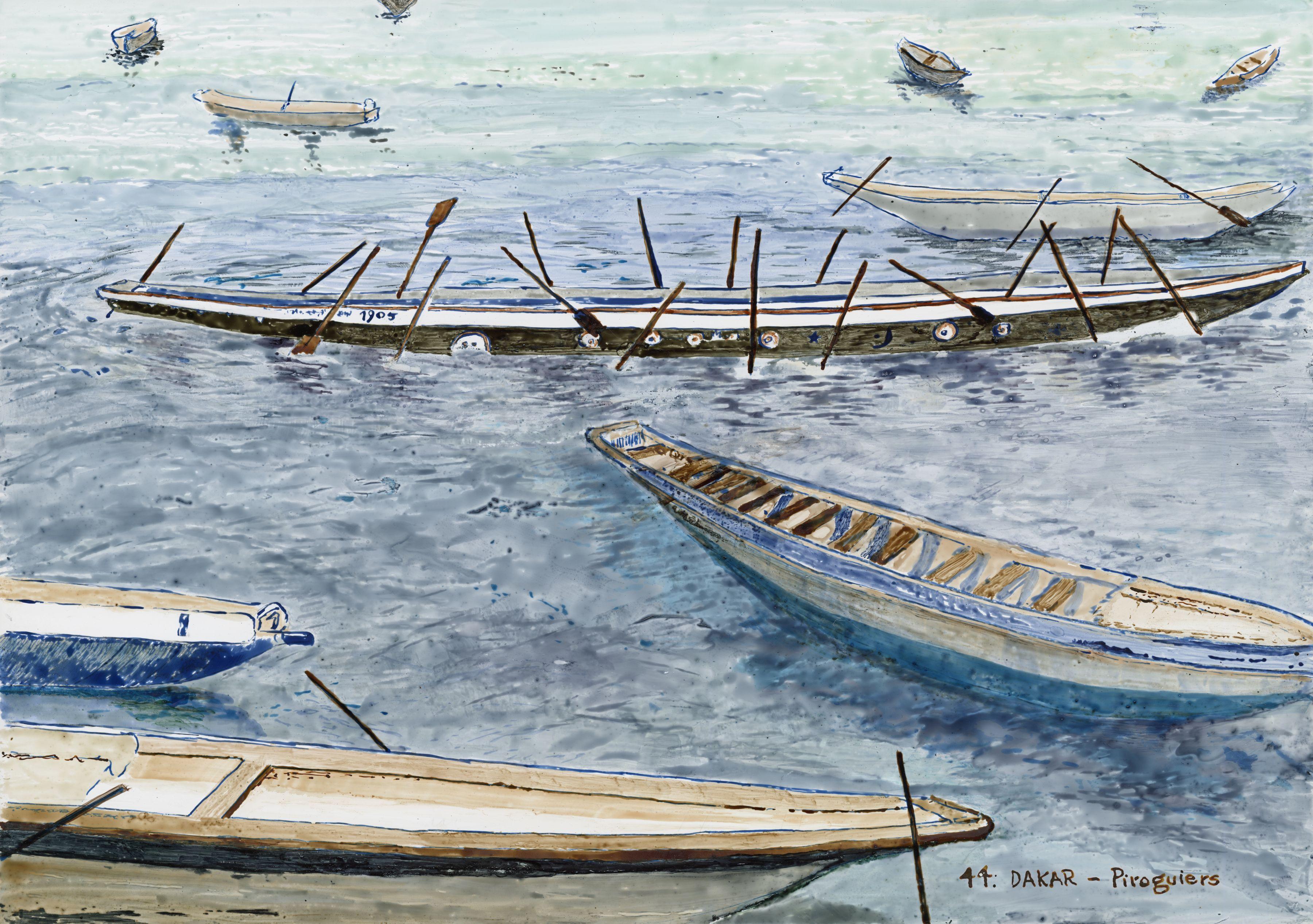 Piroguiers- Dakar, artwork
