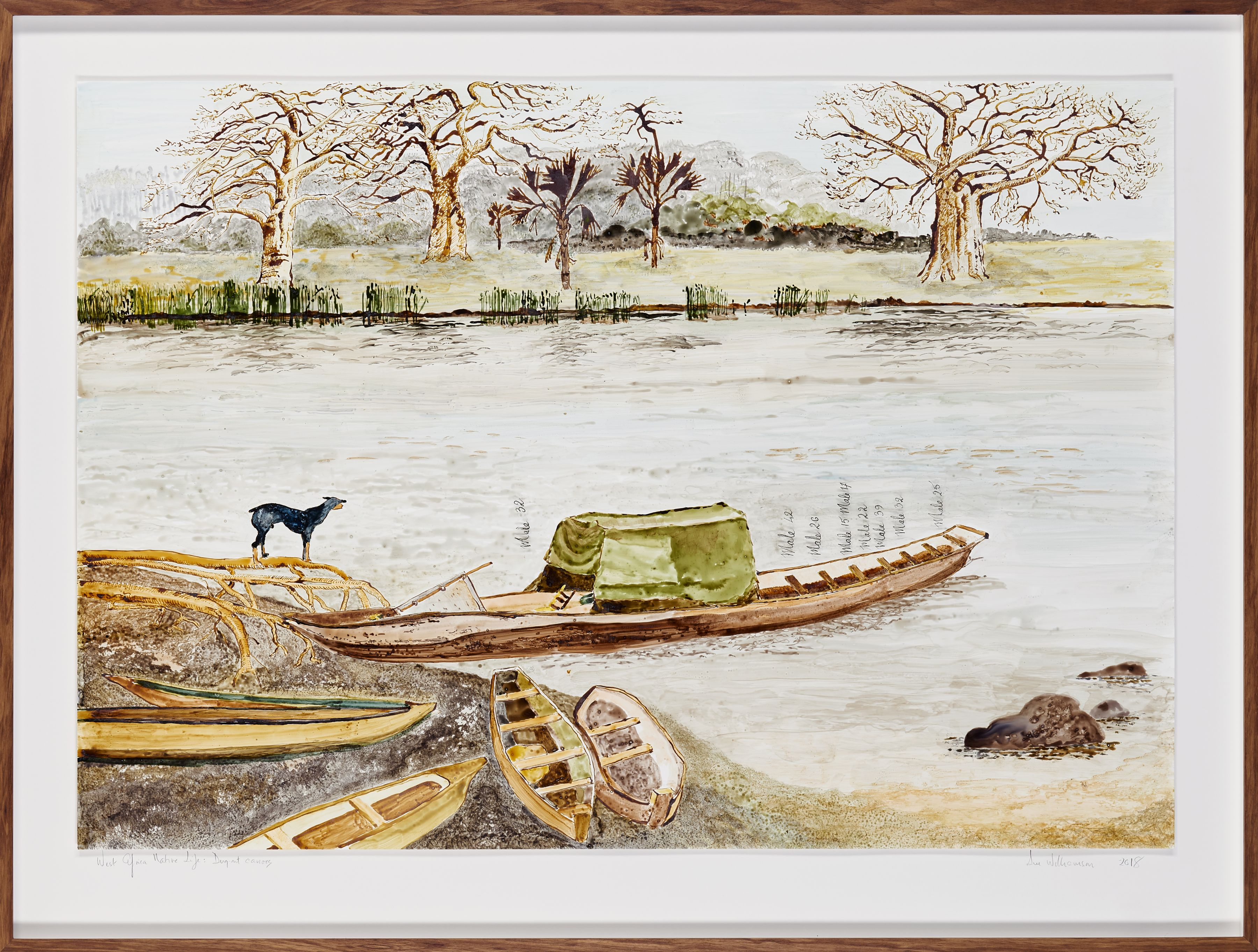 West African Native life and scenes: Dugout Canoes, artwork