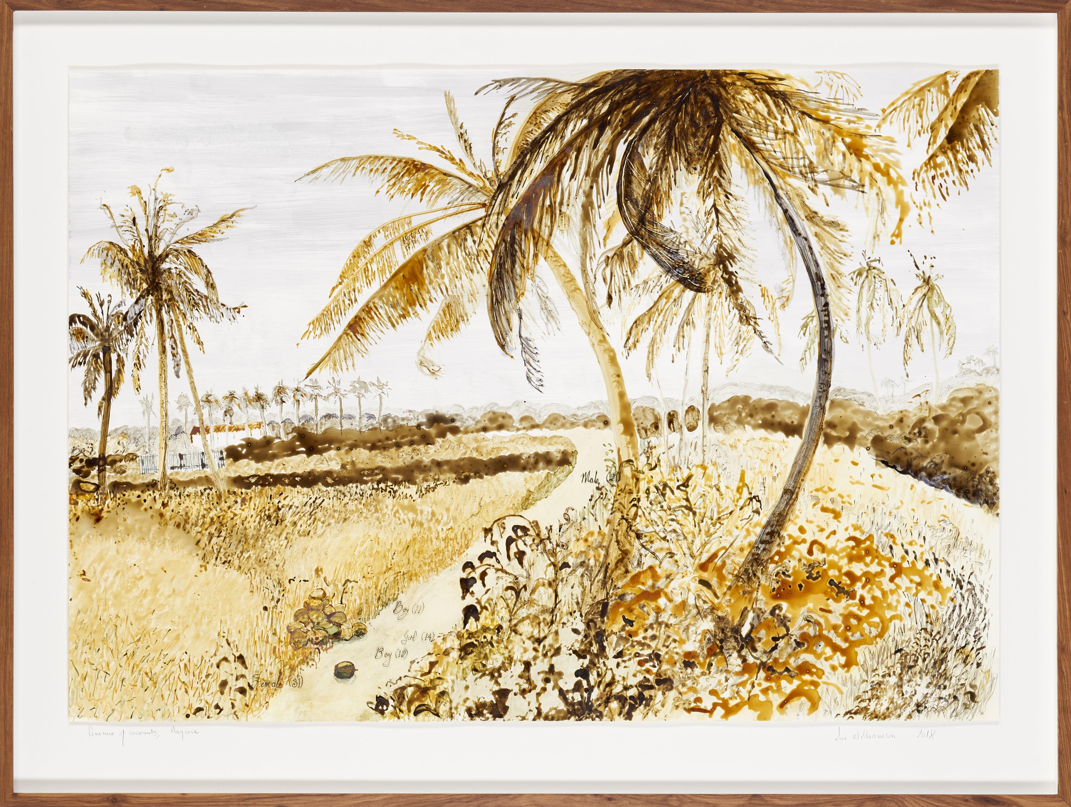 Avenue of coconuts, Nigeria artwork