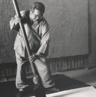 Ha Chong-Hyun in his studio 1994