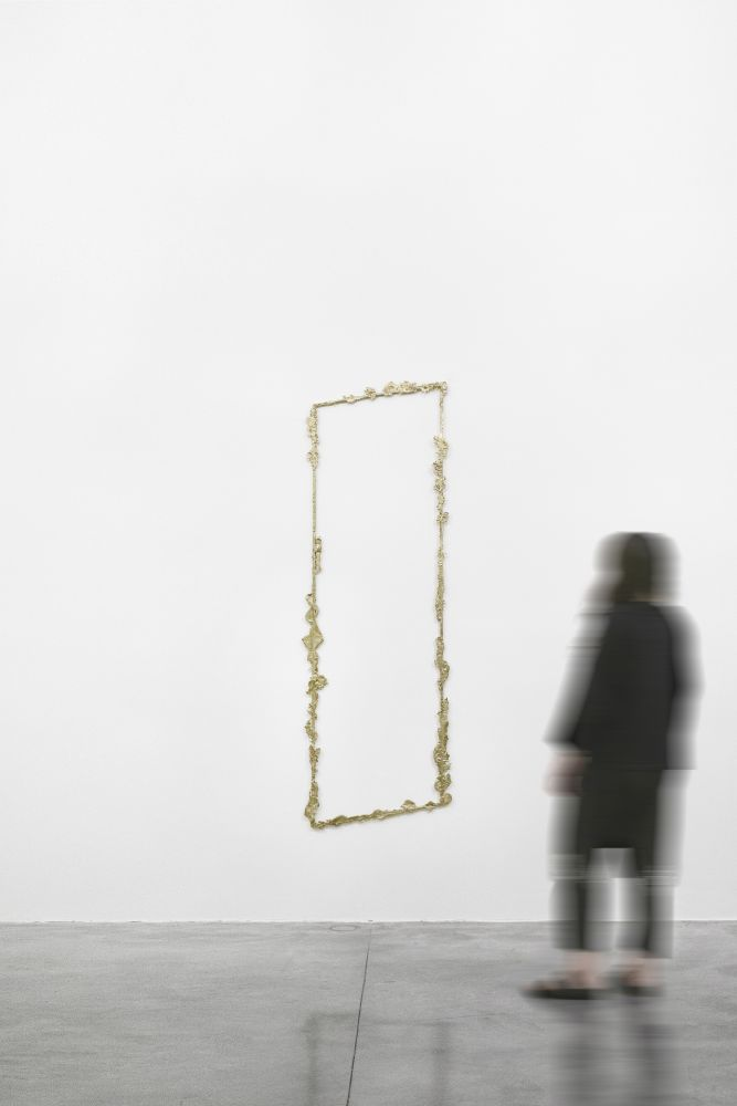 Tania Pérez Córdova (b. 1979) Contour #2, 2020 Bronze poured into sand 82.68 x 25.59 x .79 inches 210 x 65 x 2 cm