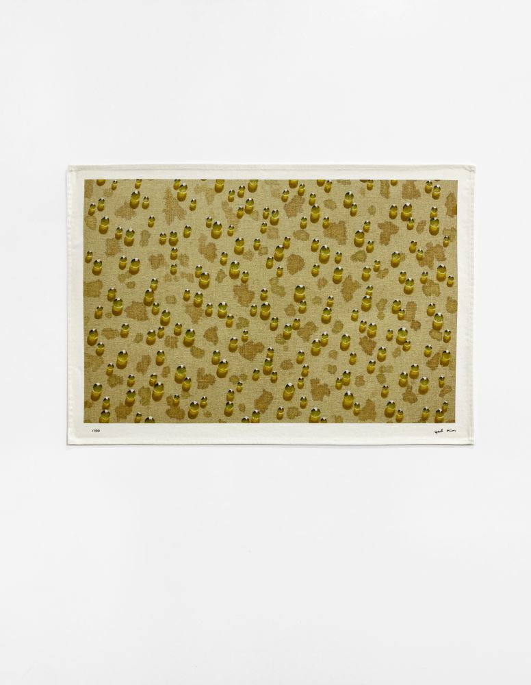Kim Tschang-Yeul (b. 1929) Untitled (based on Water Drops, 2014), 2020 Digital print on tea towel, 100% cotton 27.56 x 19.69 inches 70 x 50 cm Edition of 100