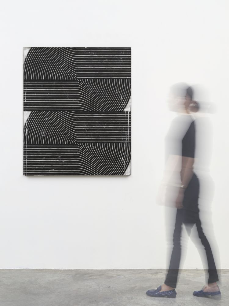 Davide Balliano (b. 1983)  UNTITLED_0142, 2019  Plaster, gesso & varnish on wood  48 x 40 inches  121.9 x 101.6 cm