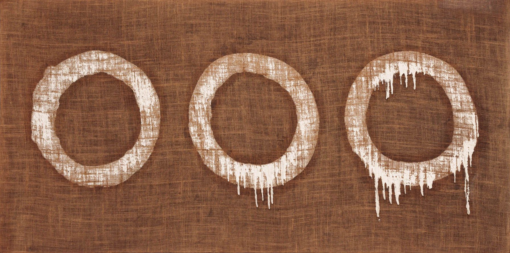 Ha Chong-Hyun (b. 1935) Conjunction 79-79, 1979 Oil on hemp canvas 31 1/2 x 62 3/5 inches 80 x 159 cm