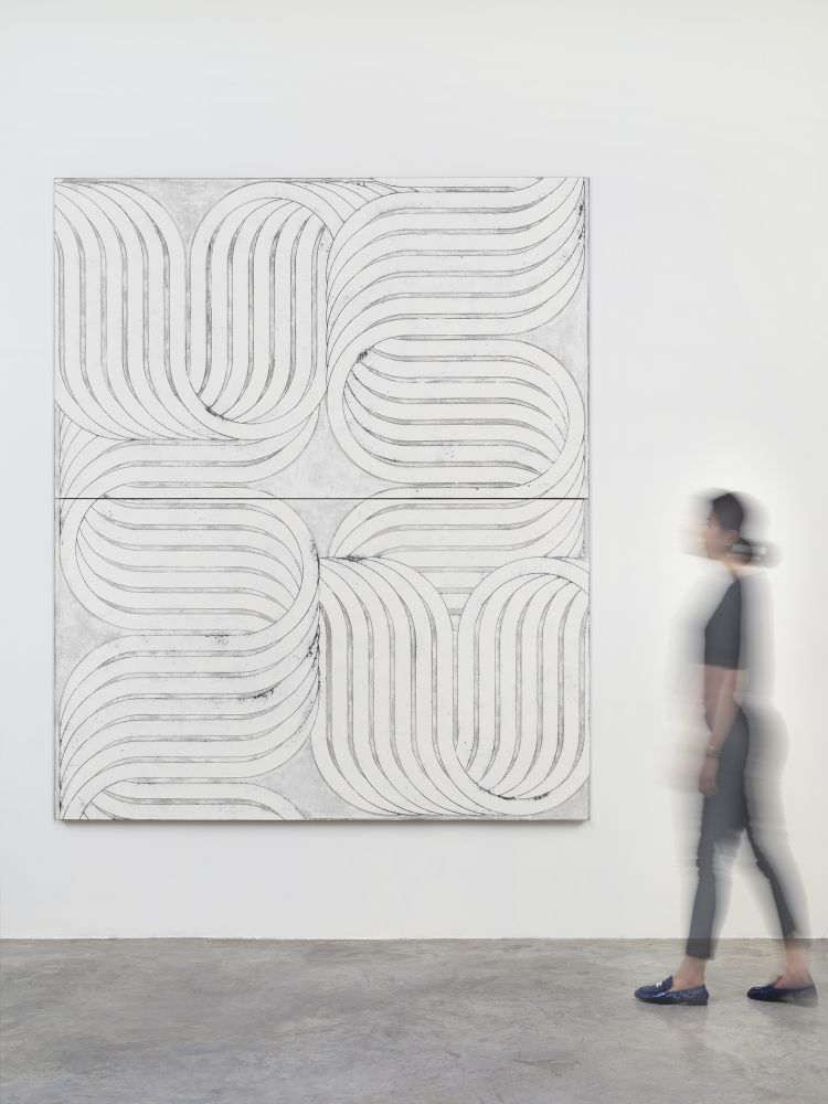 Davide Balliano (b. 1983) UNTITLED_0176, 2020 Plaster, gesso & varnish on Belgian linen 96 x 80 inches 243.8 x 203.2 cm