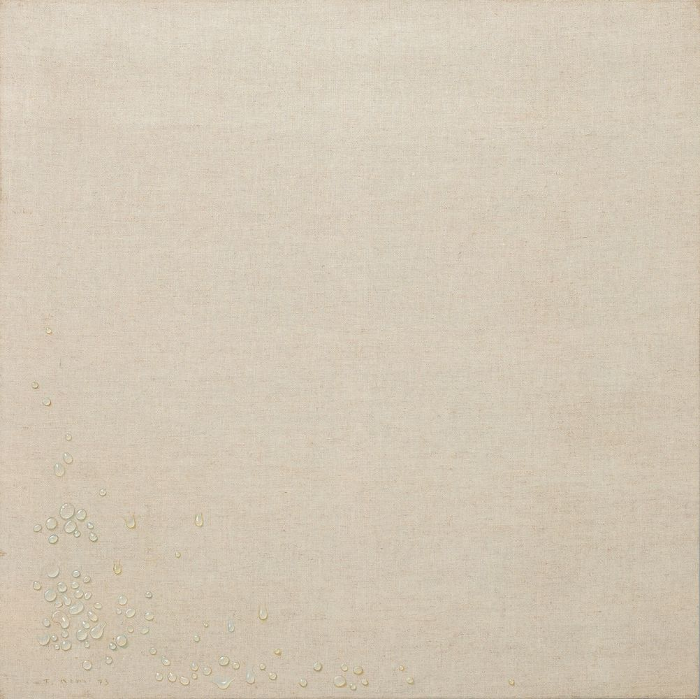 Kim Tschang-Yeul (b. 1929) Water drops, 1973 Acrylic on linen 39.37 x 39.37 inches 100 x 100 cm