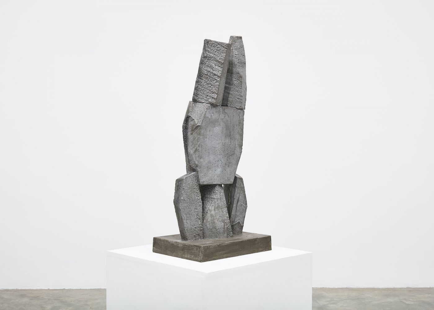 Gimhongsok (b. 1964) Resist - Ho, 2018 High-strength grout cement 36.42 x 15.75 x 11.81 inches 92.5 x 40 x 30 cm Edition 1/3, 2AP